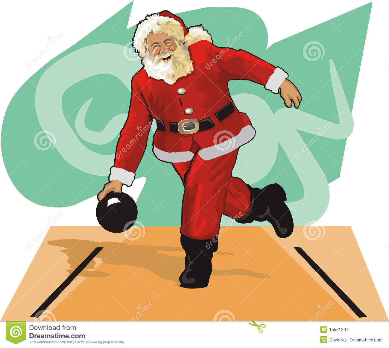 santa claus bowling stock vector image of alley vector. Black Bedroom Furniture Sets. Home Design Ideas
