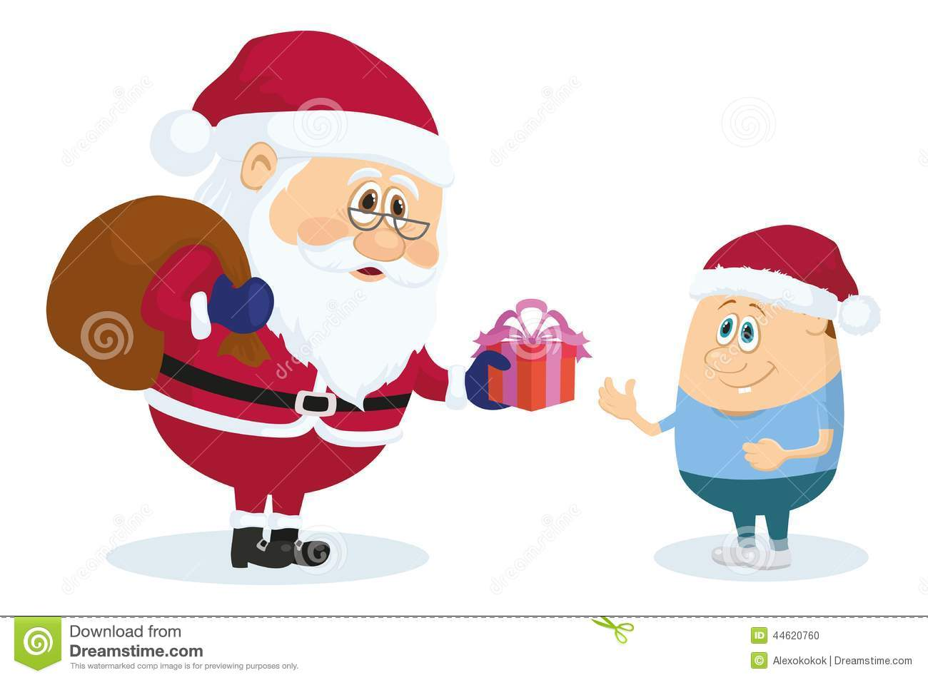 Santa Claus and boy stock vector Illustration of people