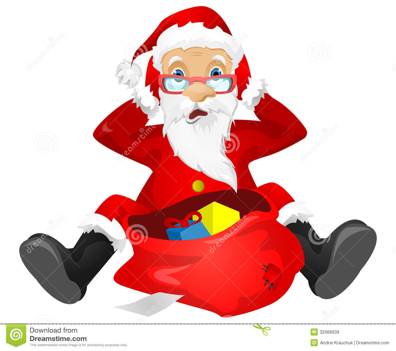 Santa claus stock vector image of costume emotional