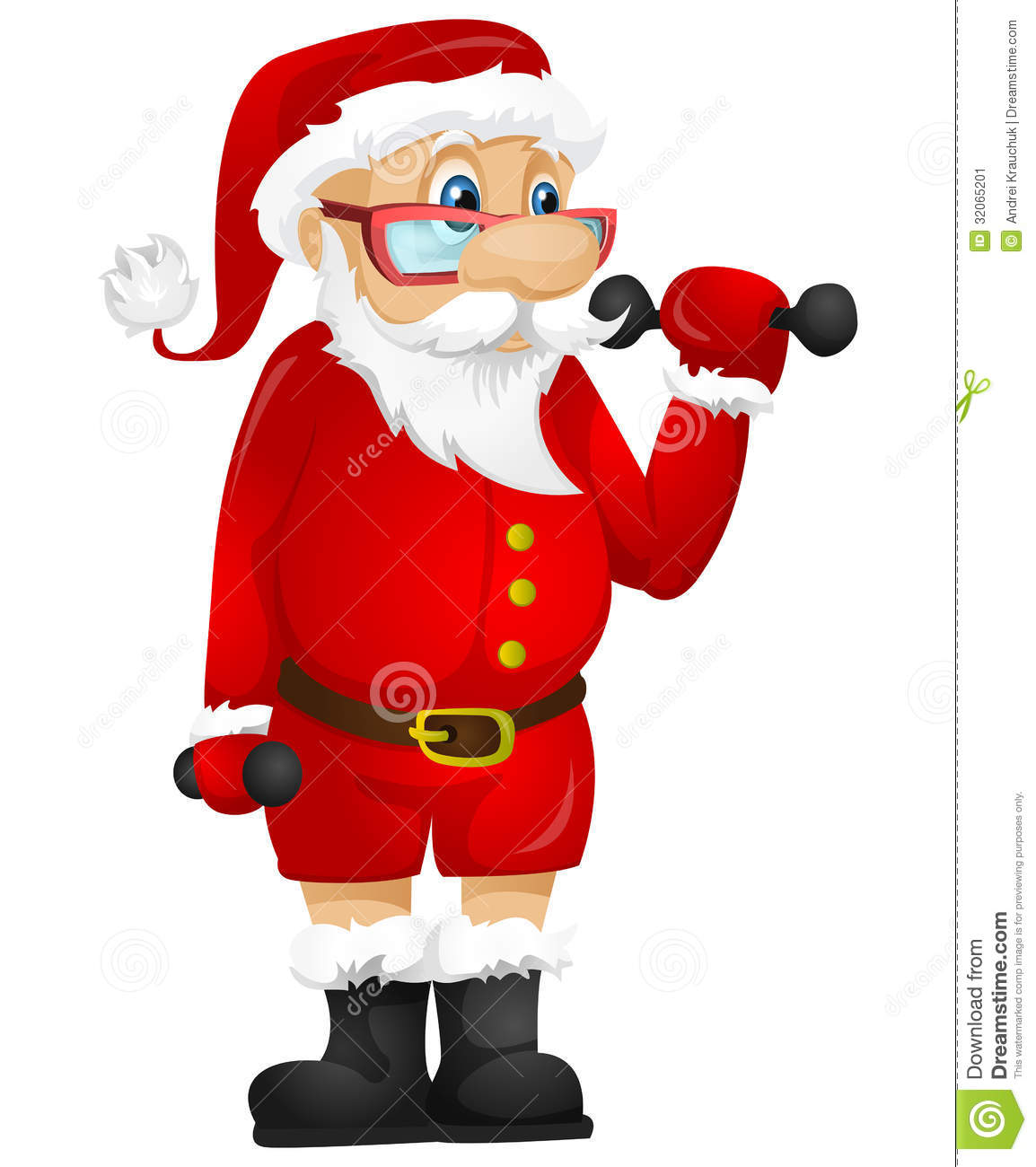 Santa Claus stock vector. Image of muscle, building ...