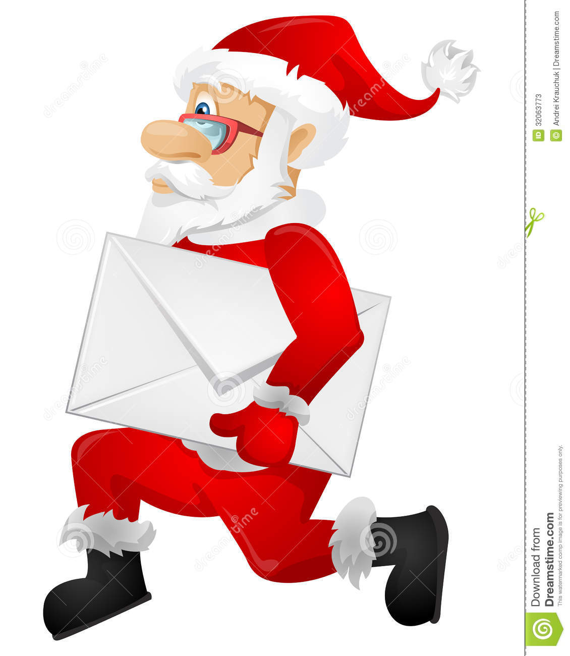 Santa claus stock vector image of celebration deliver