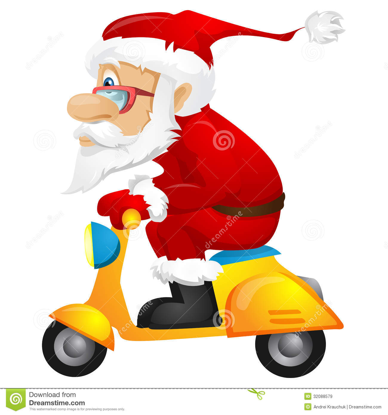 Santa Claus stock vector. Image of person, cool ...