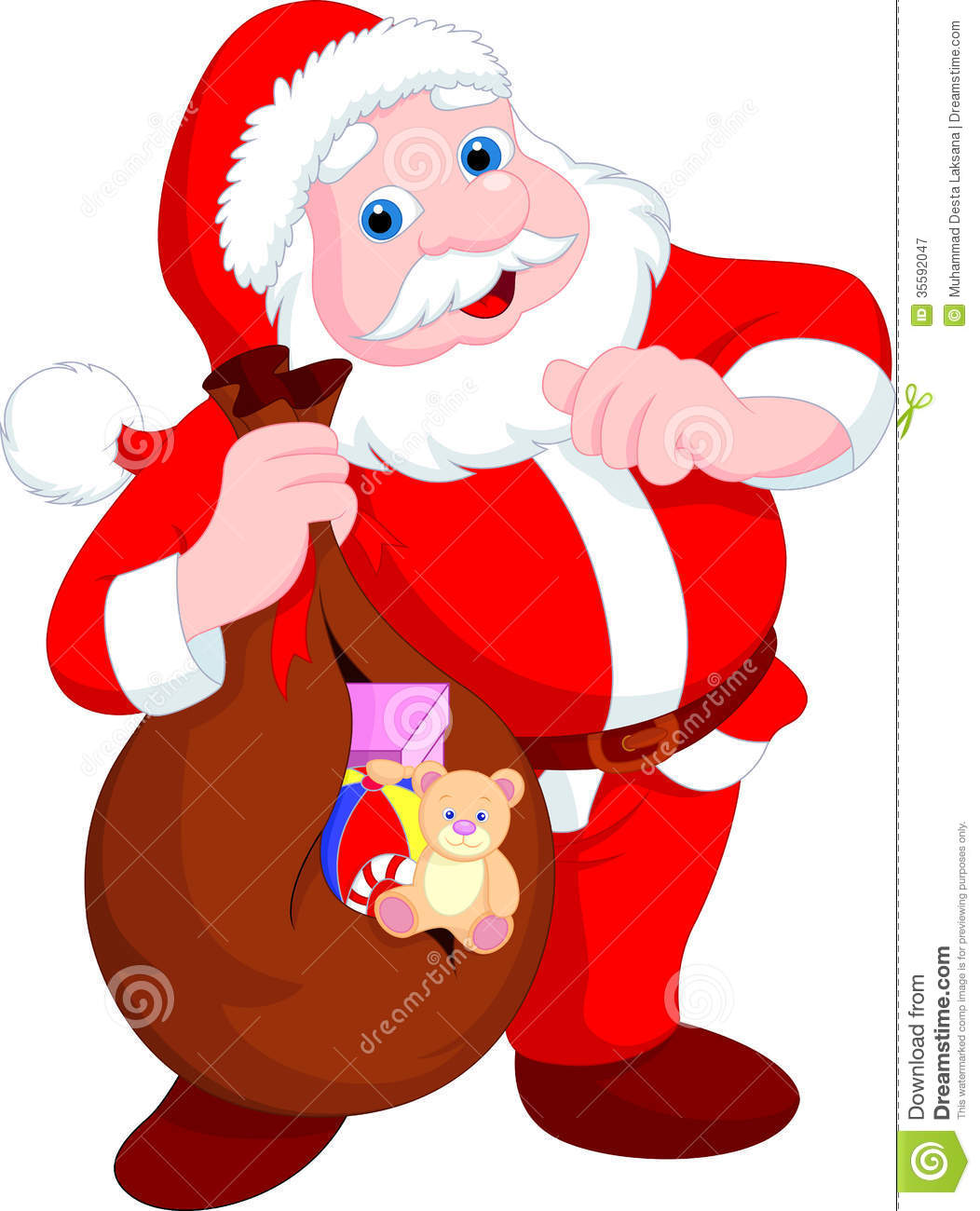 Santa claus cartoon royalty free stock photography image 35592047
