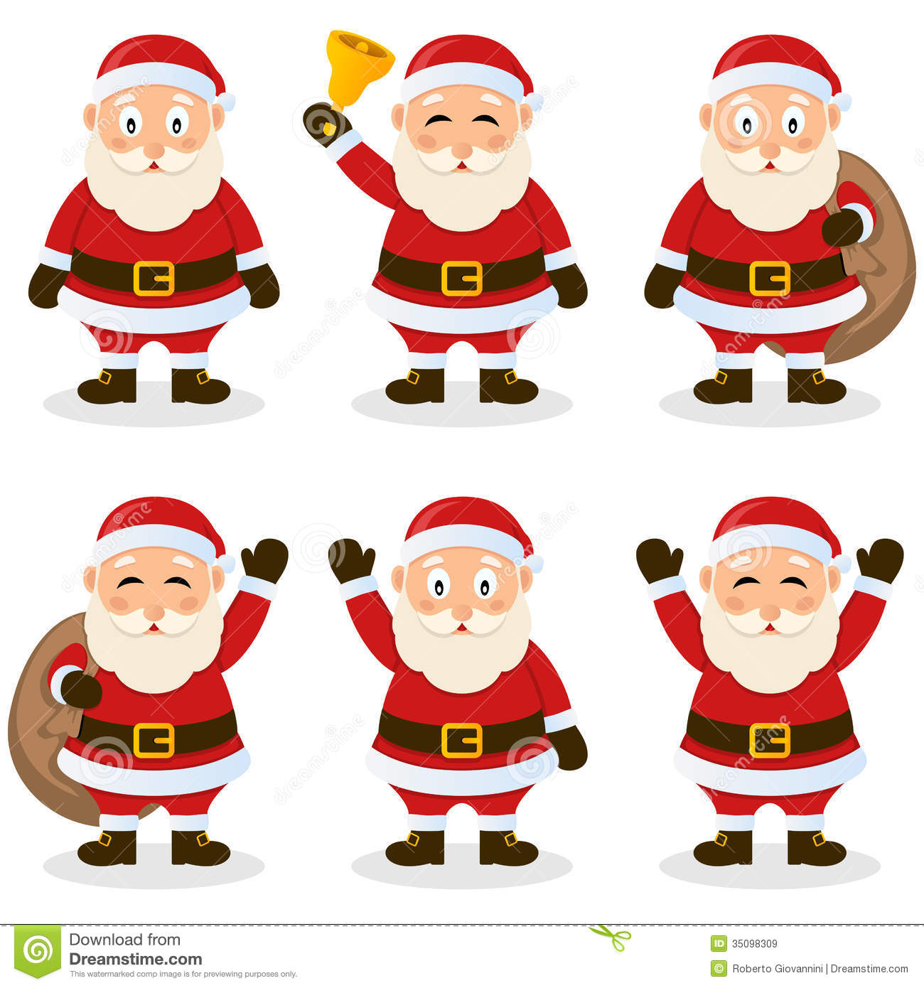 Santa Claus Cartoon Christmas Set