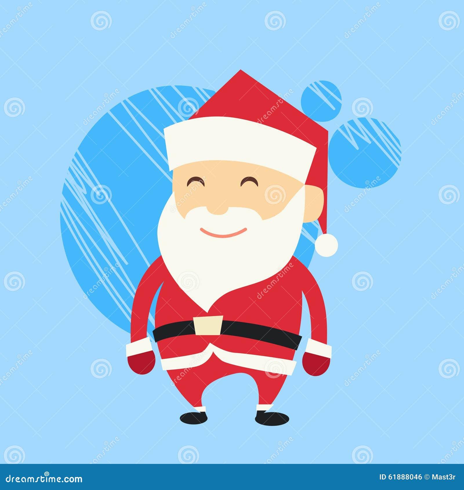 Santa Claus Cartoon Flat Christmas Holiday Vektor Abbildung ...