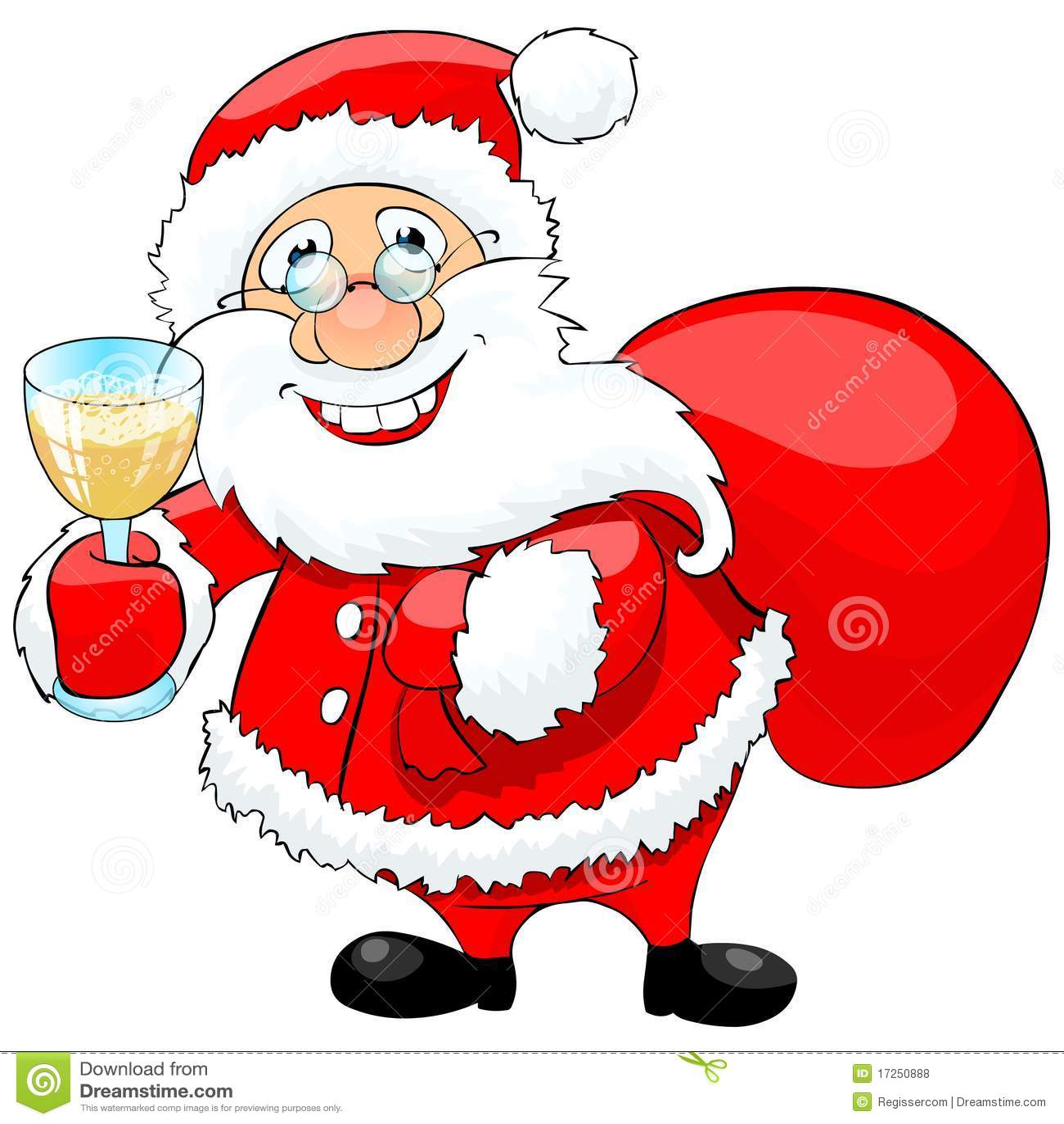 santa claus celebrating the new year royalty free stock photos image 17250888