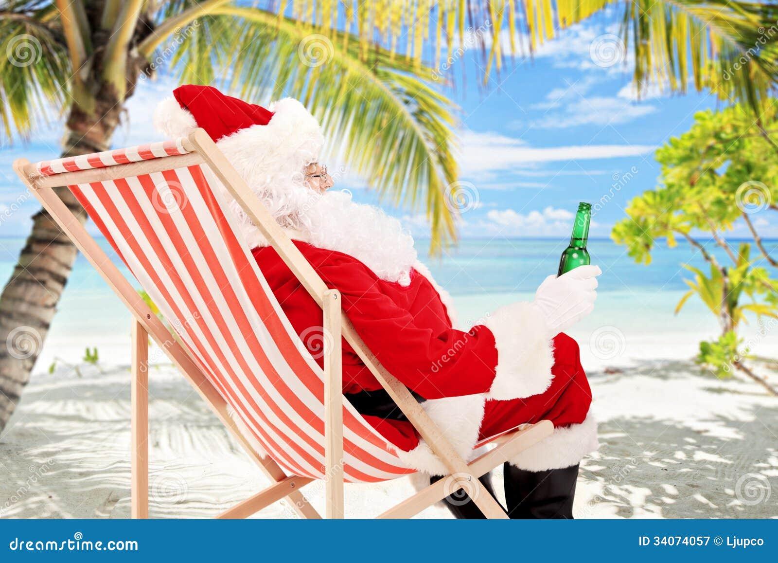 free clipart santa on the beach - photo #38