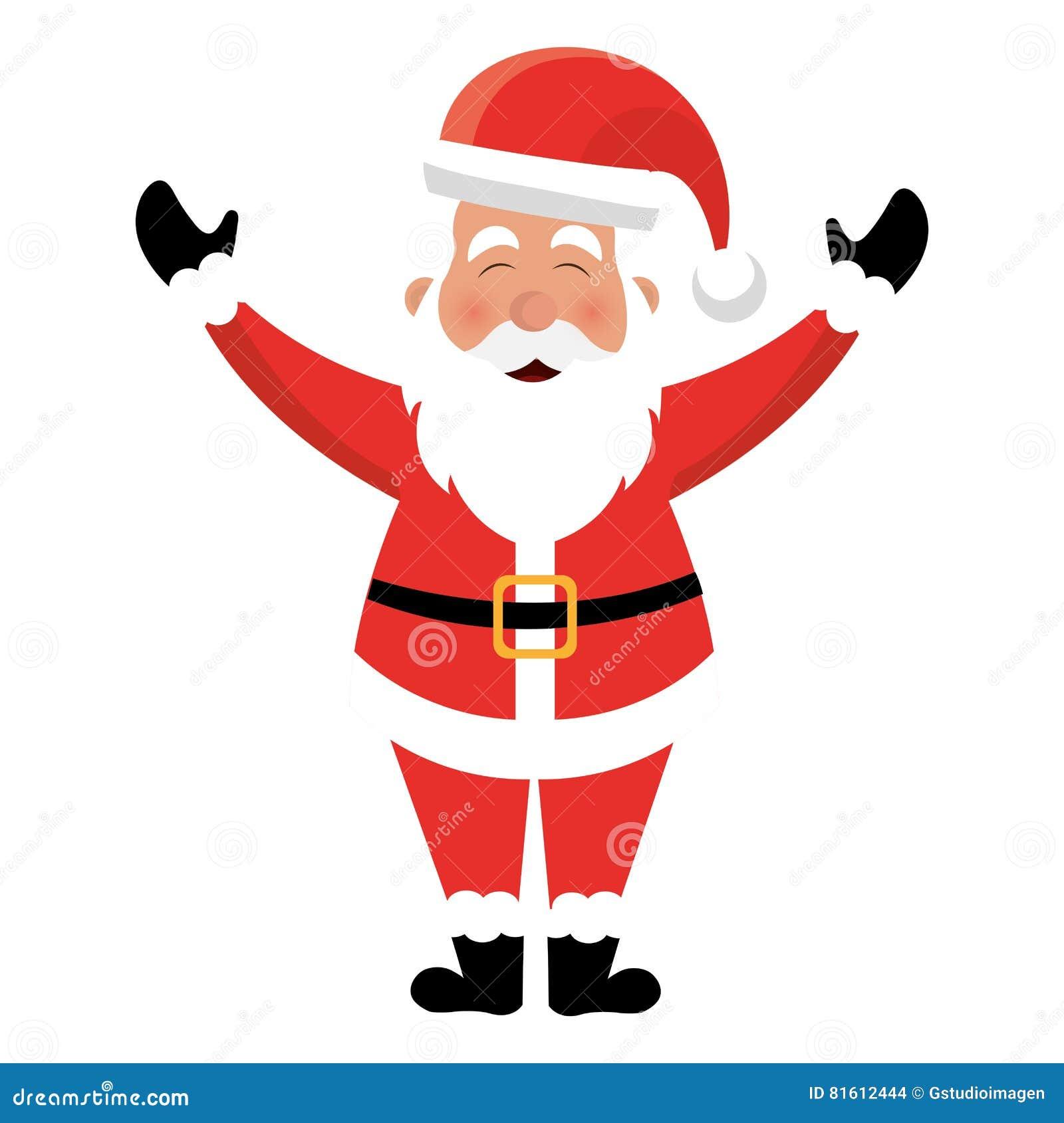 Santa Claus Charakteru Kawaii Styl Ilustracja Wektor