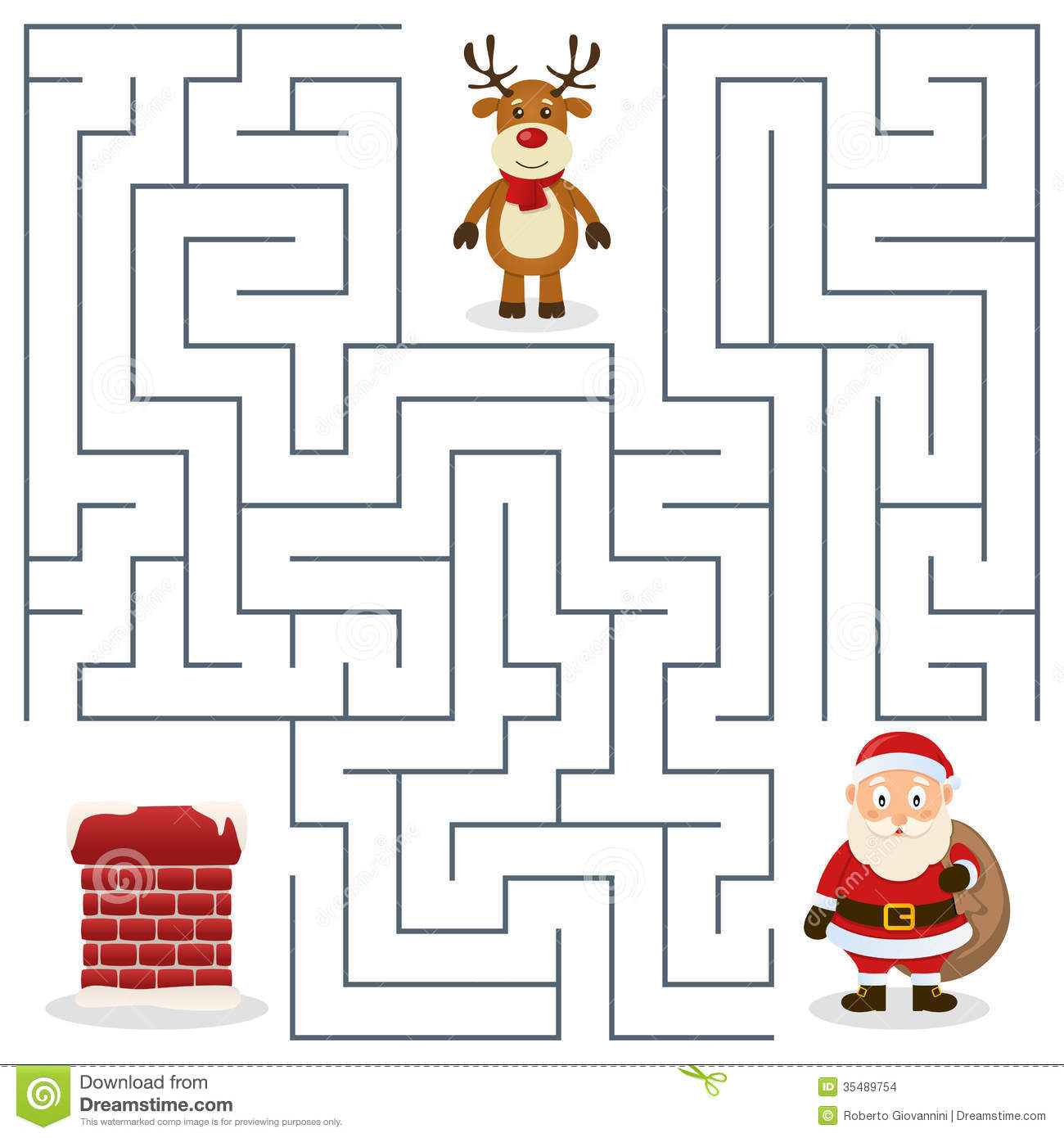 Displaying 16> Images For - Christmas Maze For Kids...