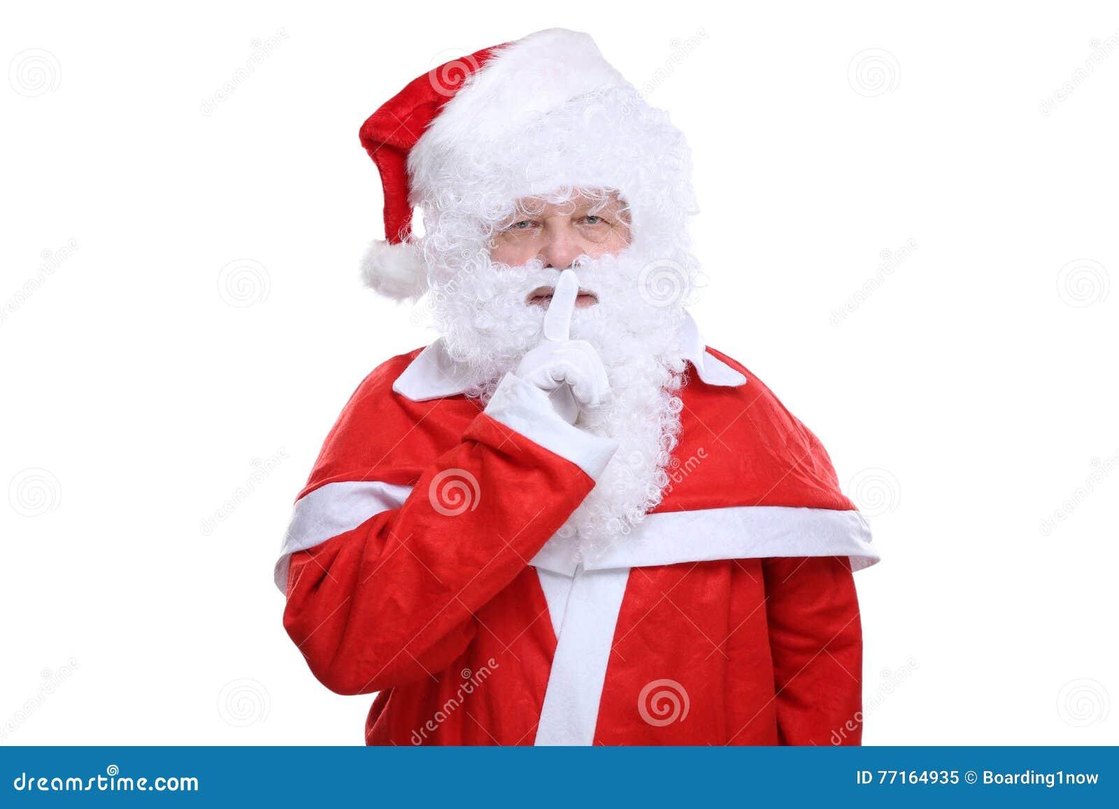 Santa Claus Christmas ayant le secret d isolement sur le blanc