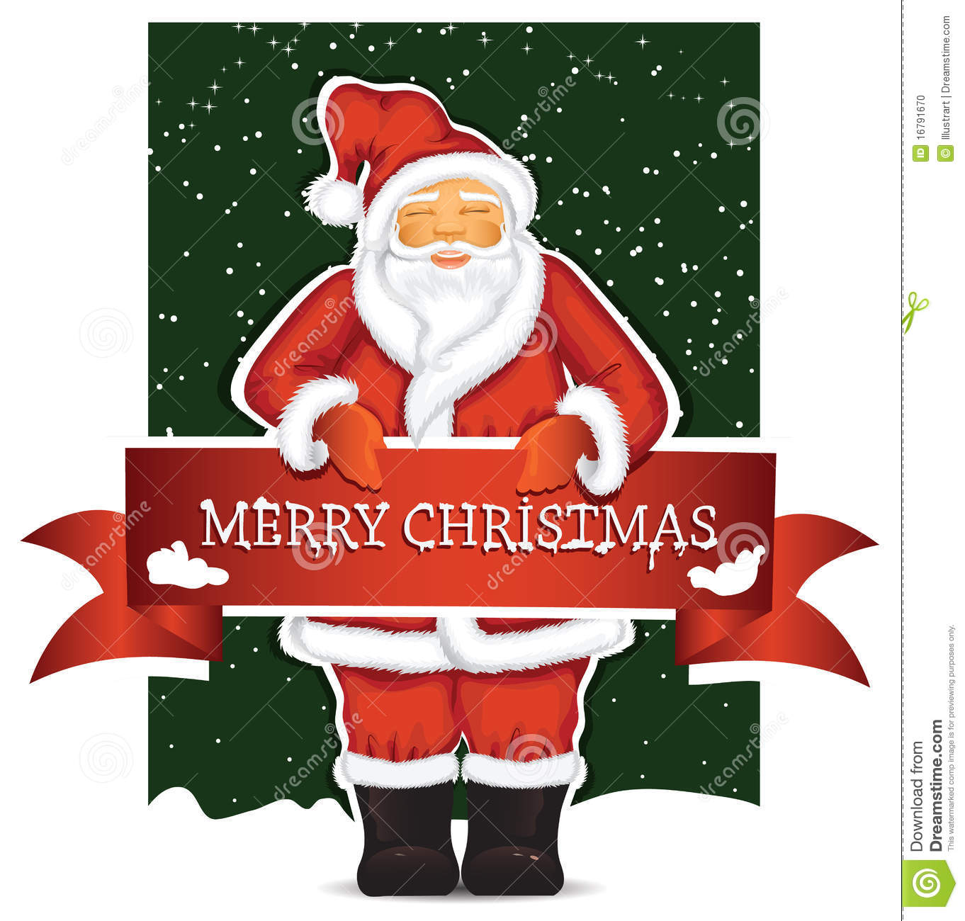 Santa claus with christmas banner stock photo image