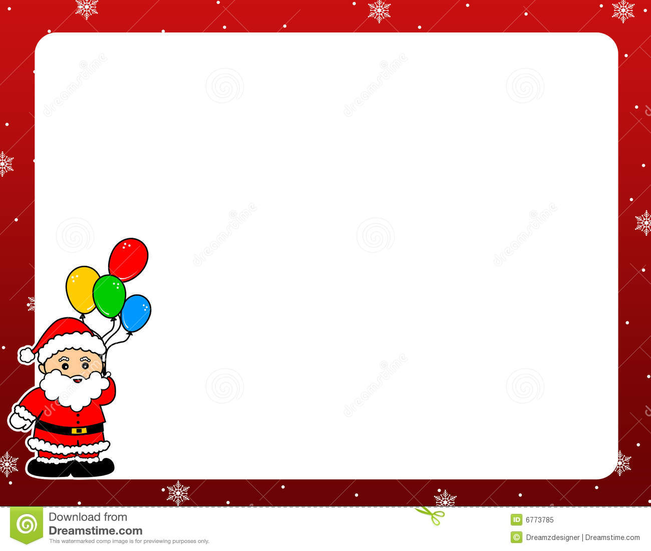 how to put xmas border around document