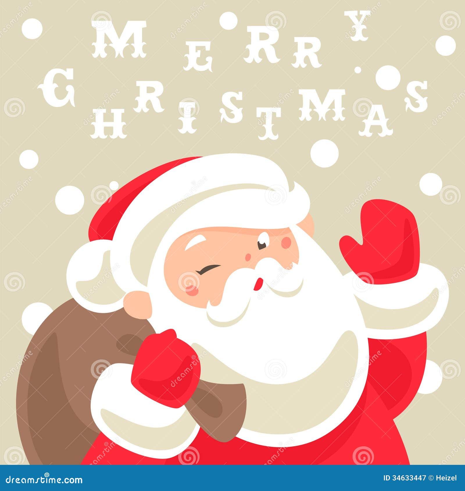 santa claus christmas card - Santa Claus Christmas Cards