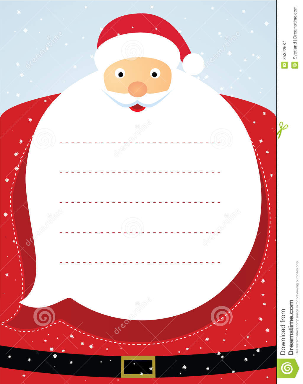 Santa Claus Christmas Card Stock Vector Illustration Of Clip