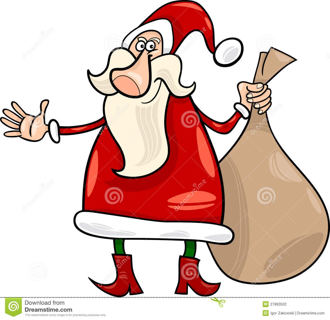 Santa claus christmas cartoon illustration stock photography image
