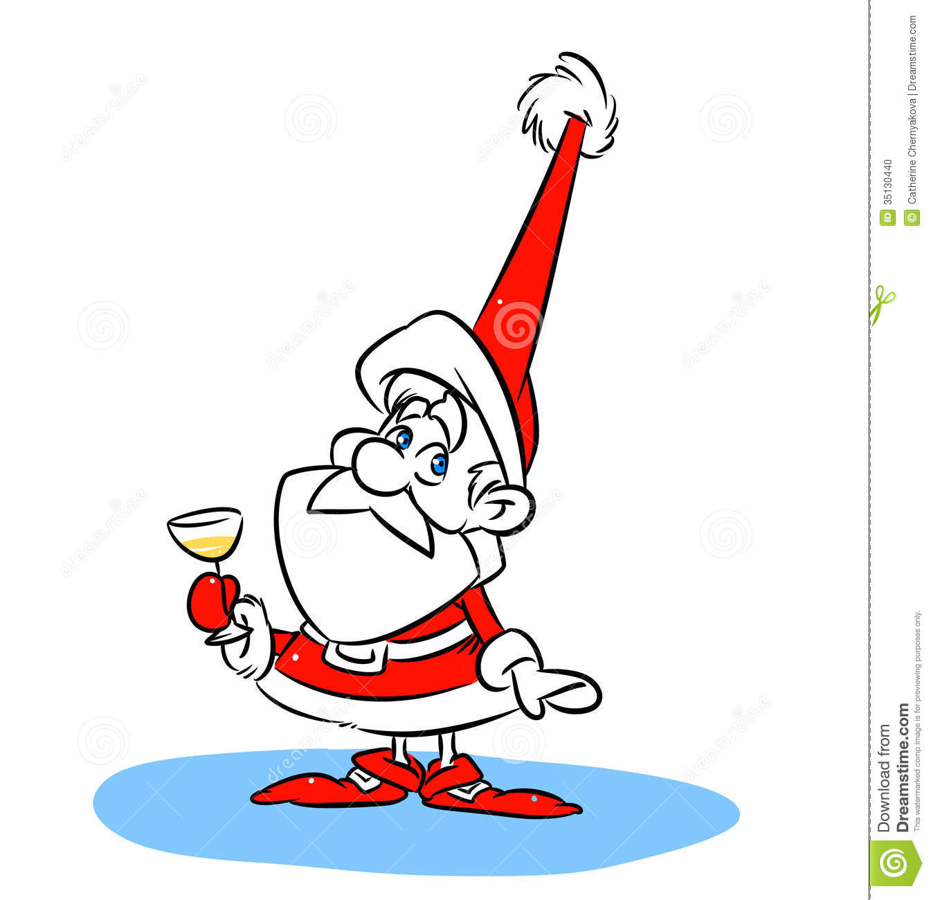 Santa Claus Christmas Champagne Stock Photo - Image: 35130440