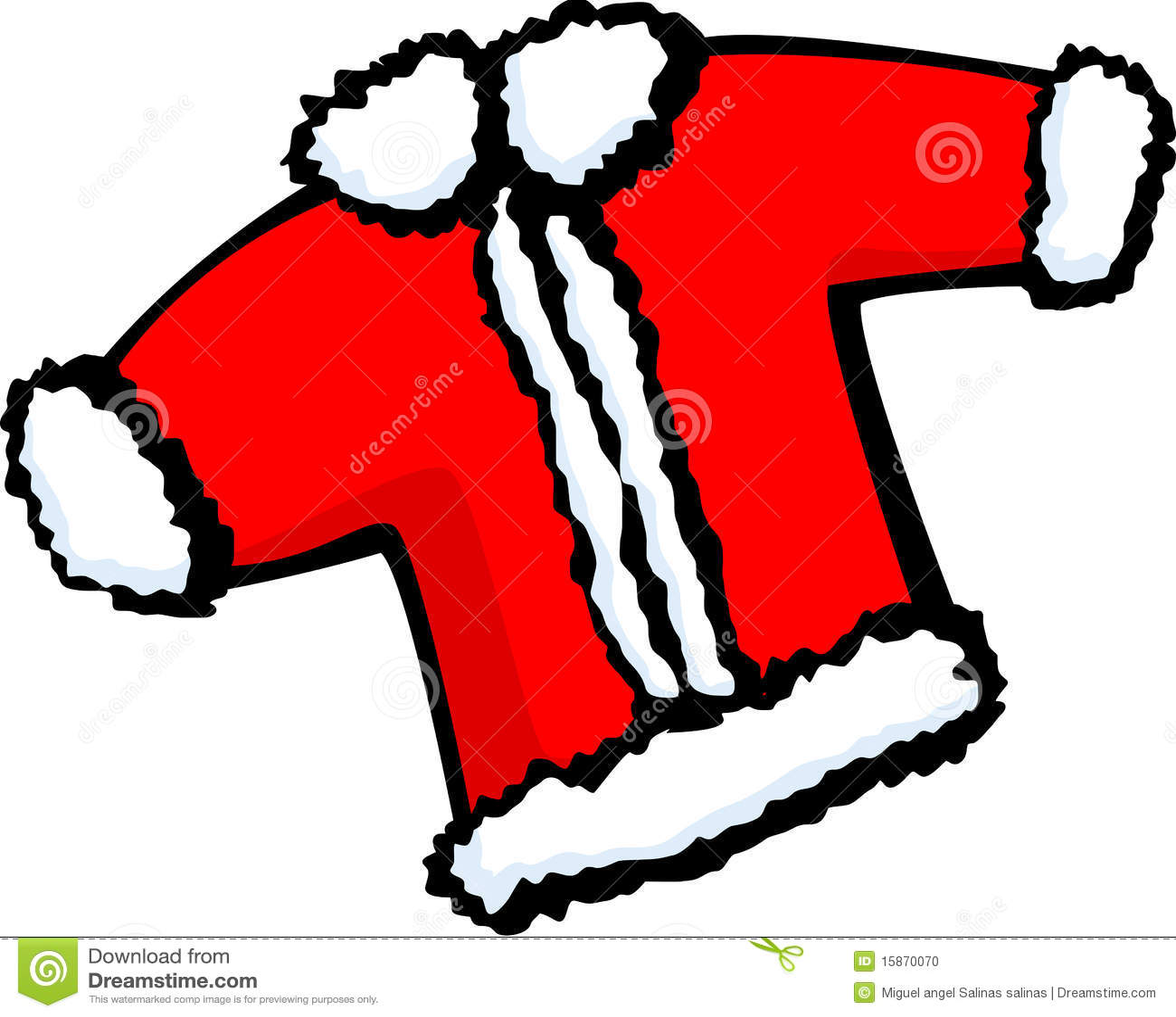 santa claus christmas coat vector illustration - Santa Claus Coat