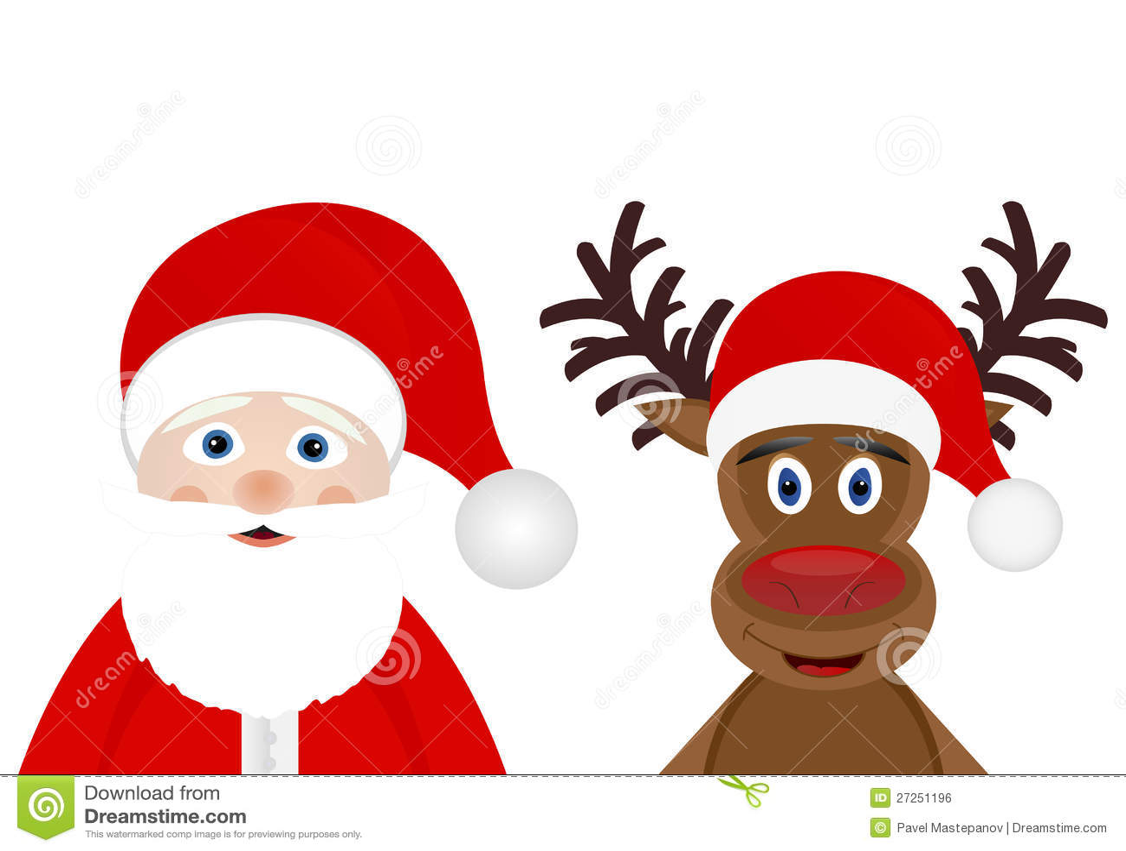 santa claus and christmas deer - Santa Claus Christmas