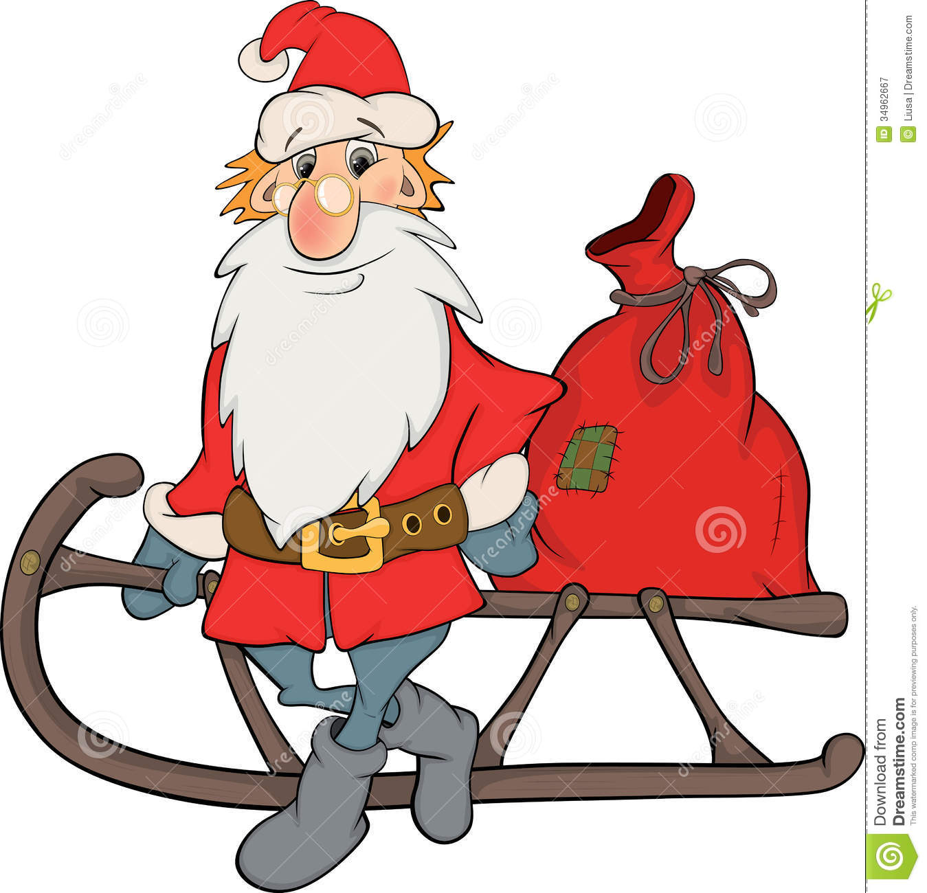 Christmas Toys Cartoon : Santa claus and christmas gifts cartoon stock vector