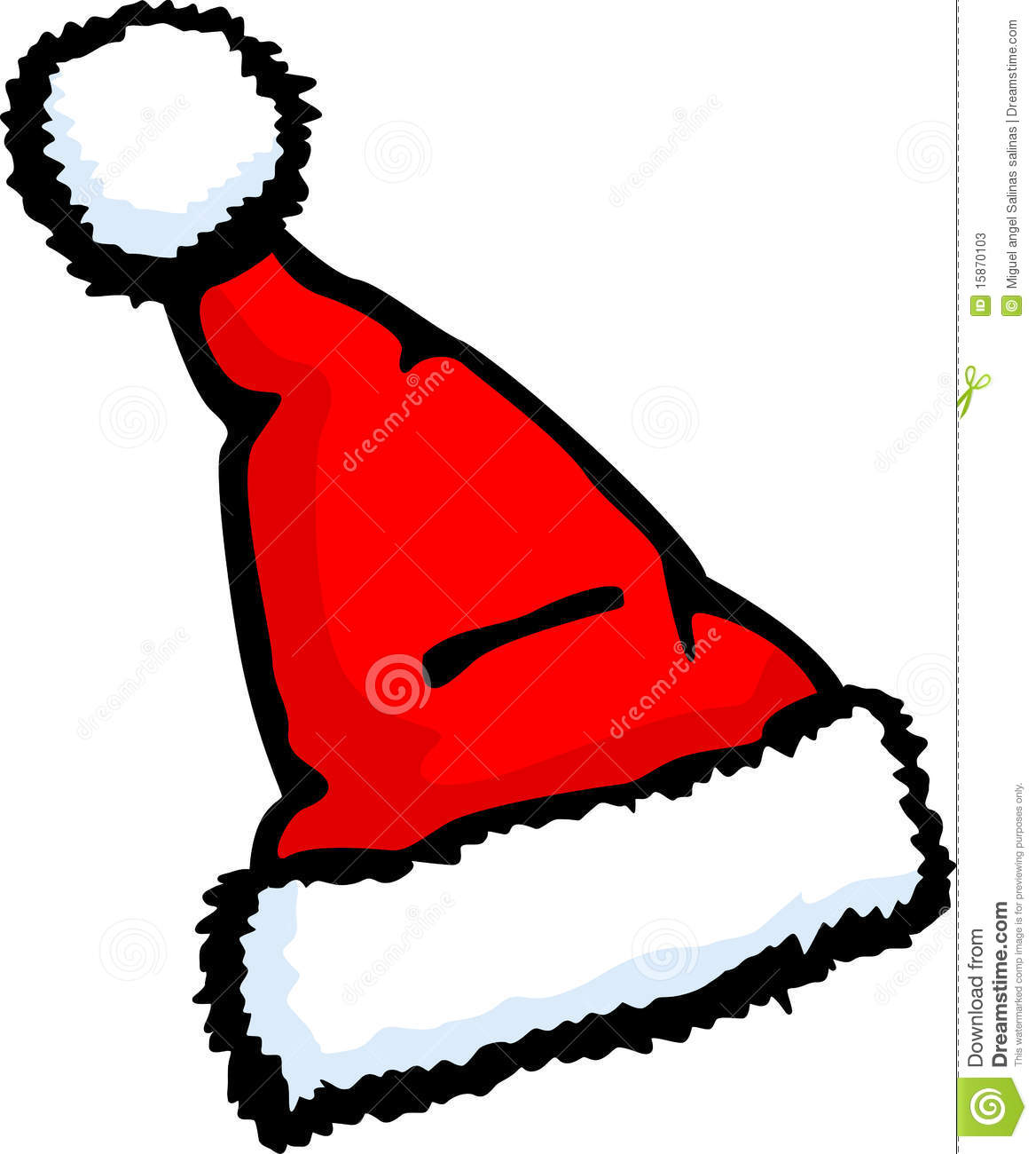 Santa claus christmas hat vector illustration stock
