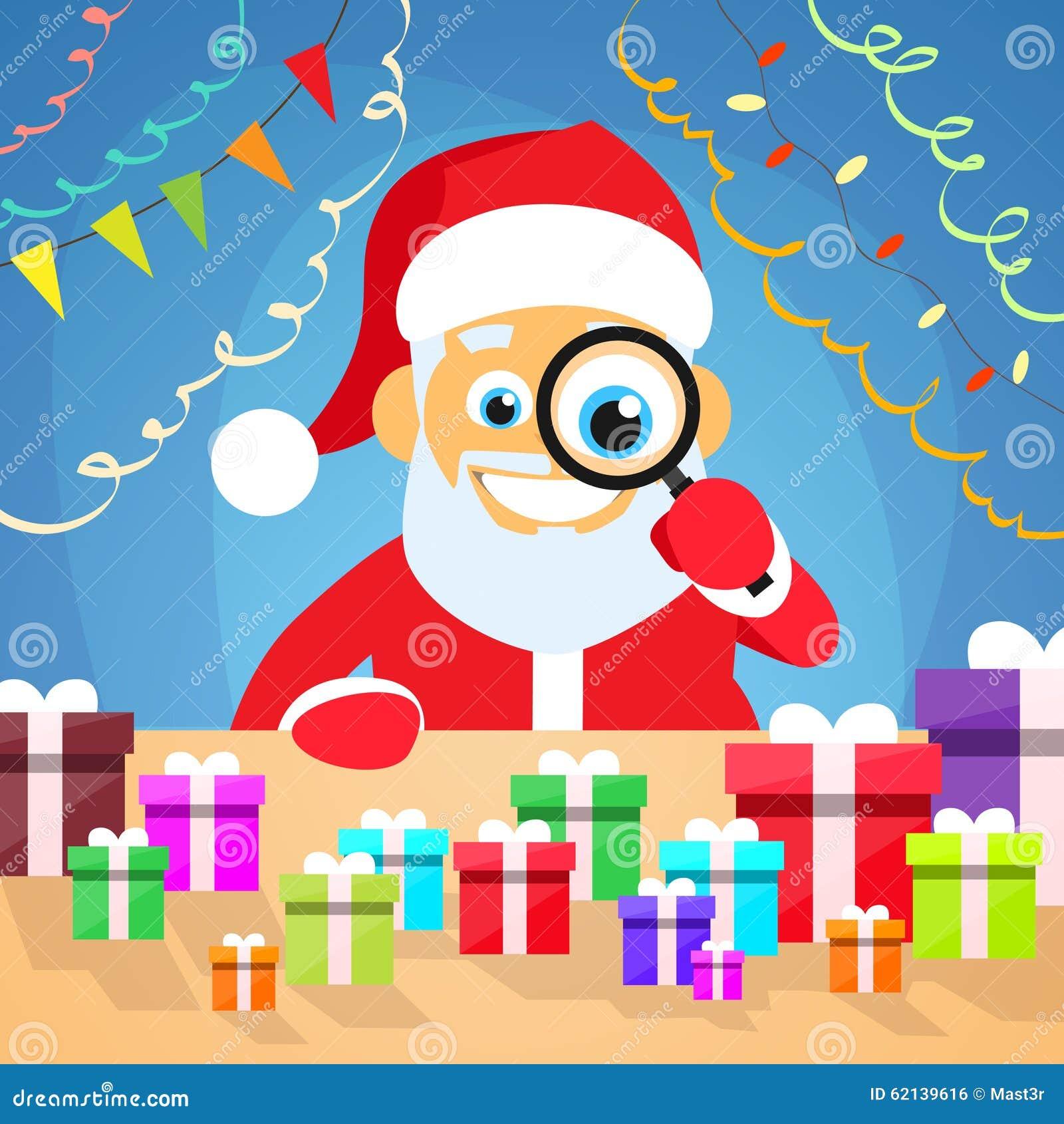 Santa Claus Christmas Holiday Choose Gift-Kasten an
