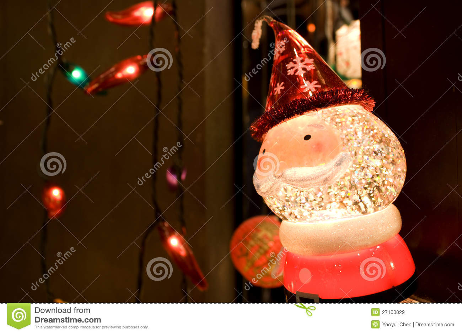 Santa claus christmas lights royalty free stock images