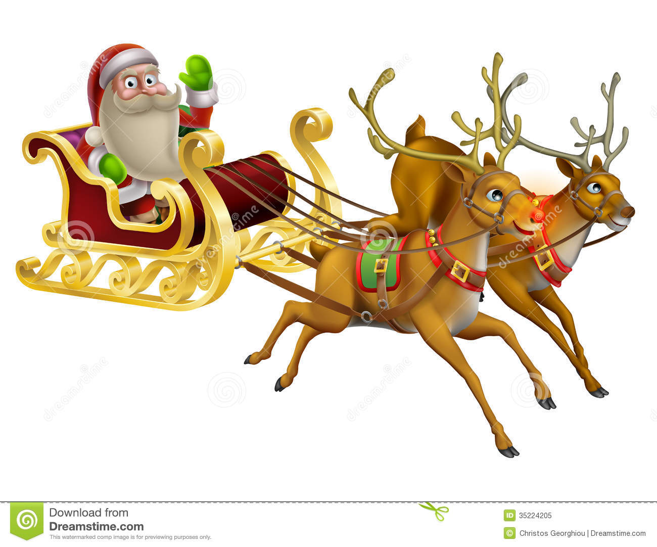 Santa Claus Christmas Sleigh Royalty Free Stock Photo - Image ...