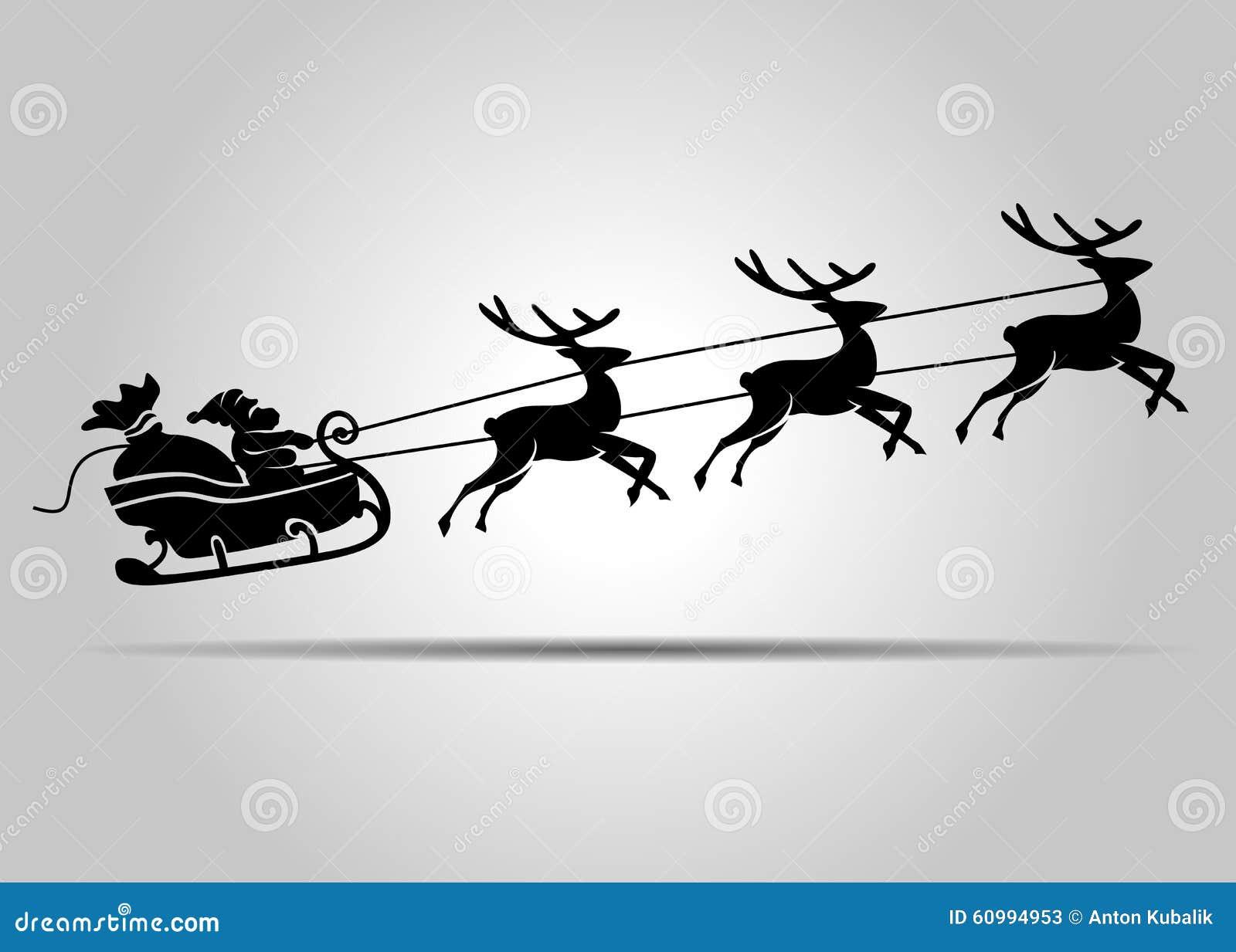 Santa Claus On Christmas Sleigh Stock Vector - Image: 60994953