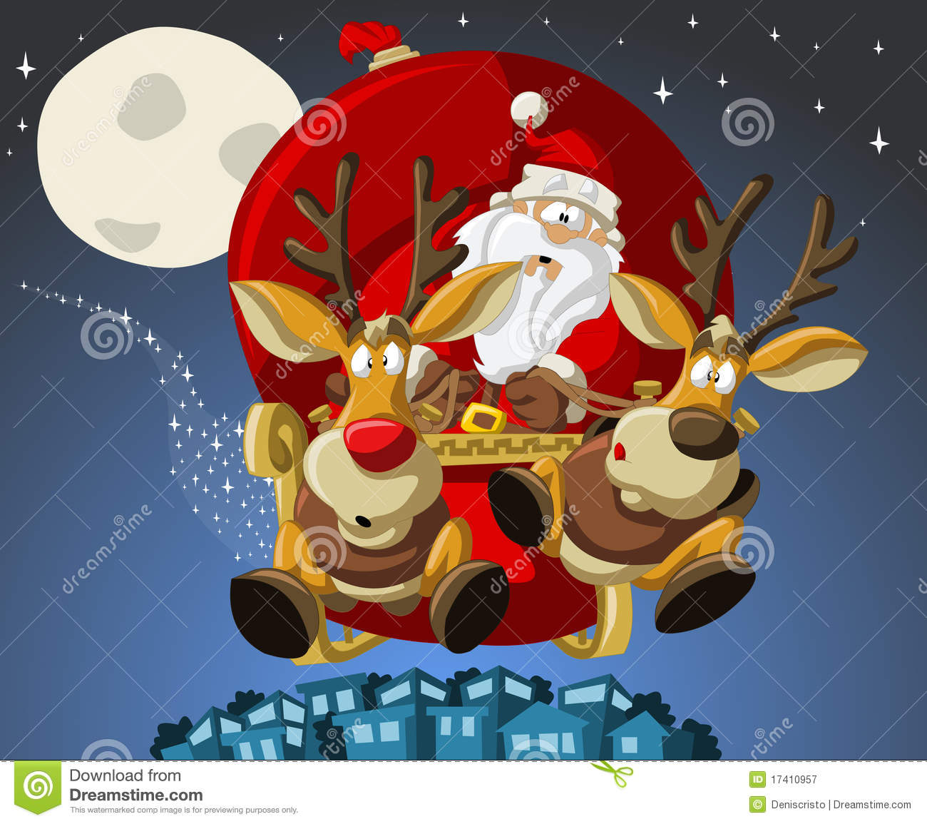 Santa-Claus On Christmas Time Royalty Free Stock Photography - Image ...