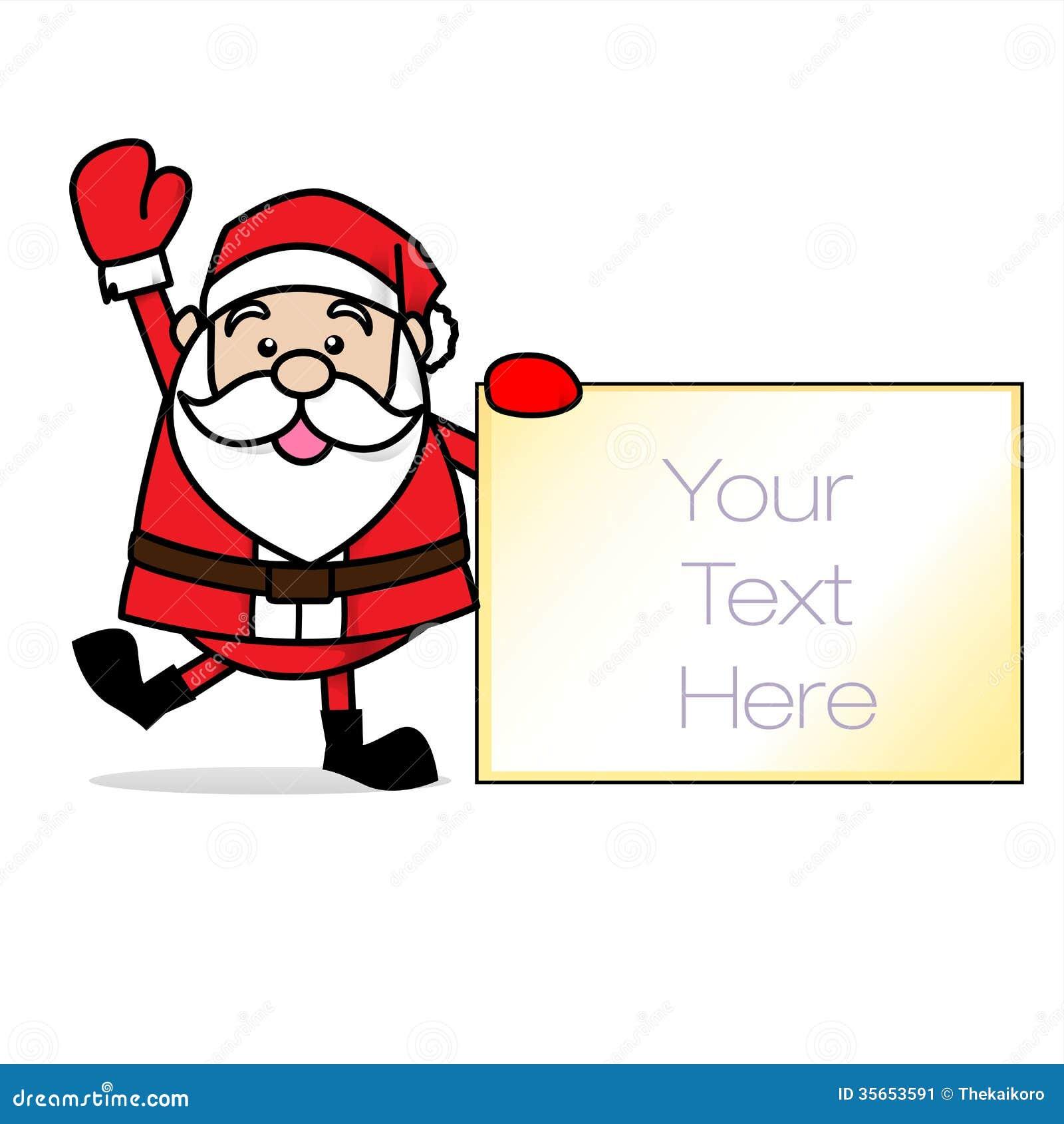 Christmas Photo Of Santa Claus Holding His Naughty And Nice List