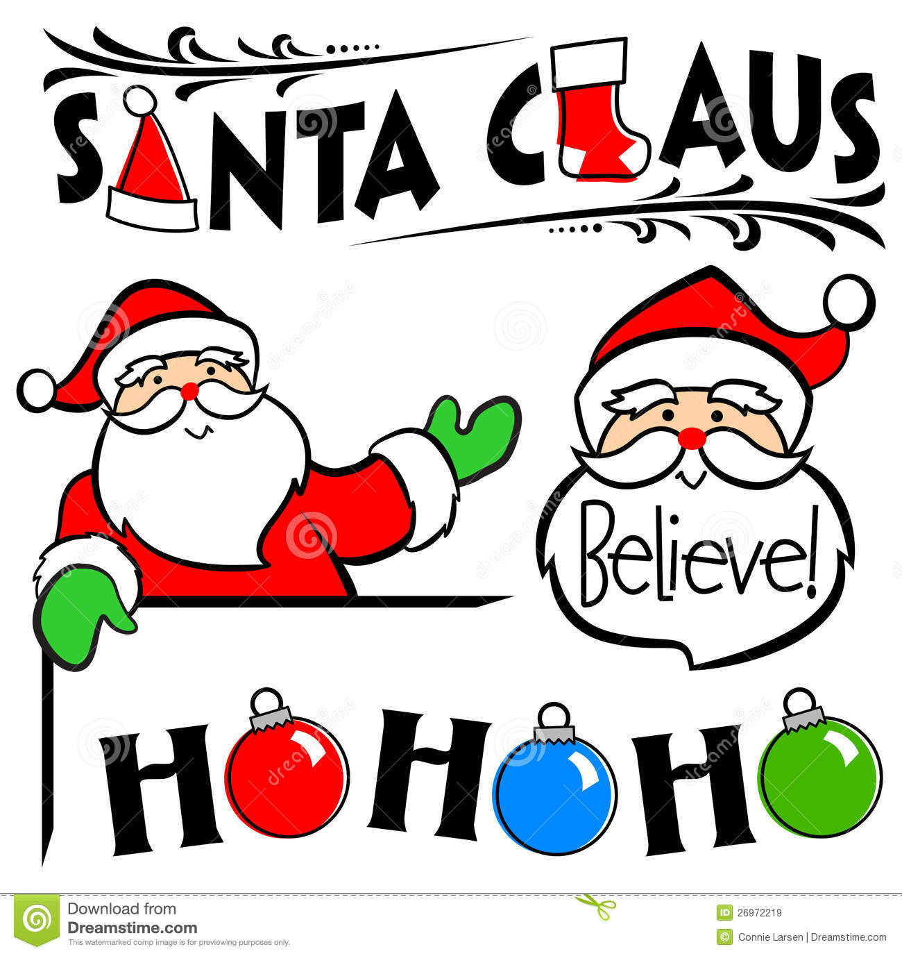 santa claus clip art set eps royalty free stock images image