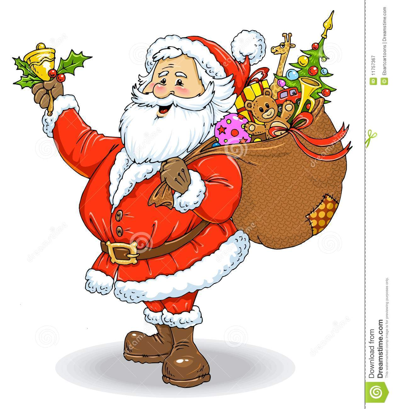 Santa Claus Color Illustration Royalty Free Stock