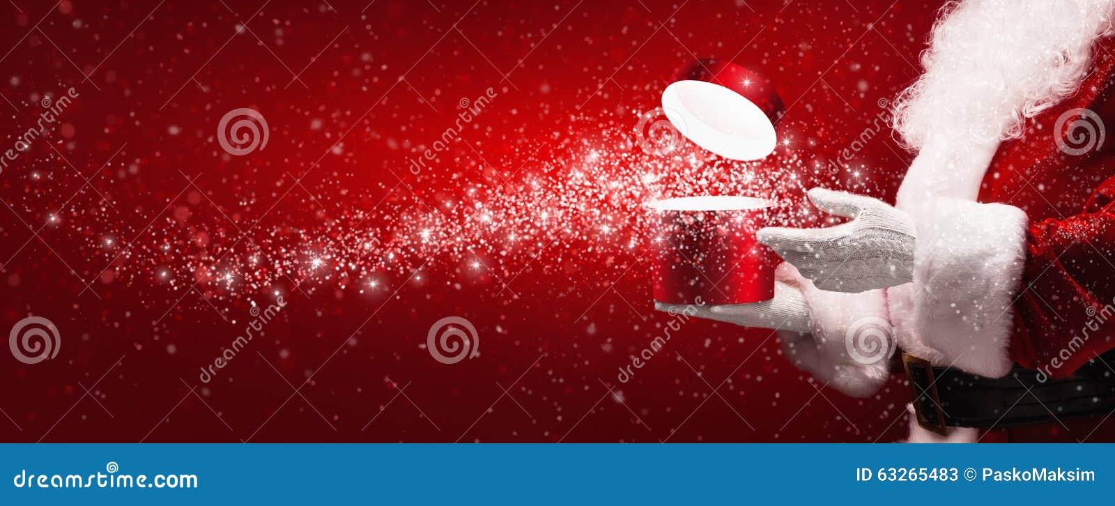 Santa Claus com caixa mágica
