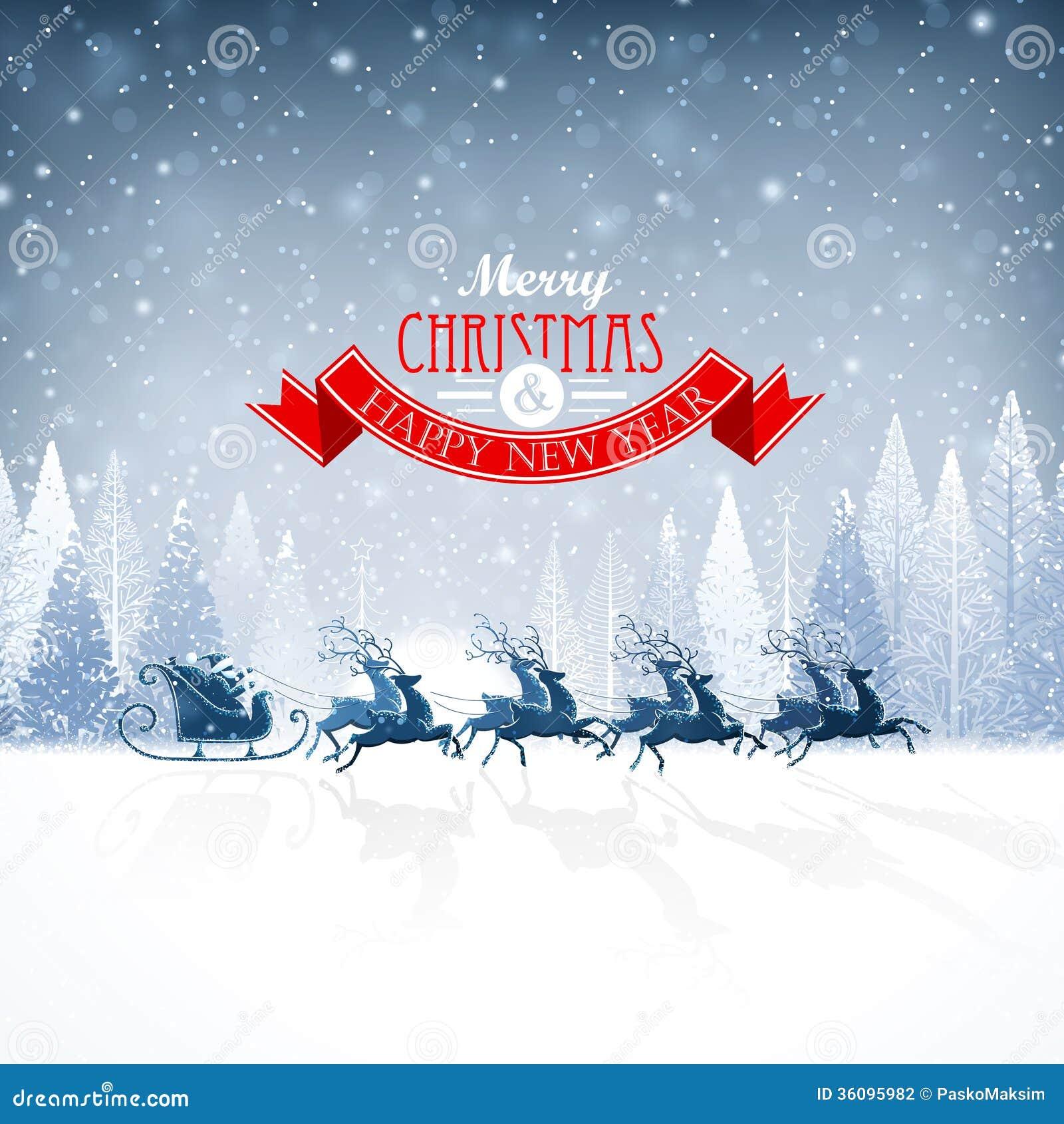 Santa Claus com rena