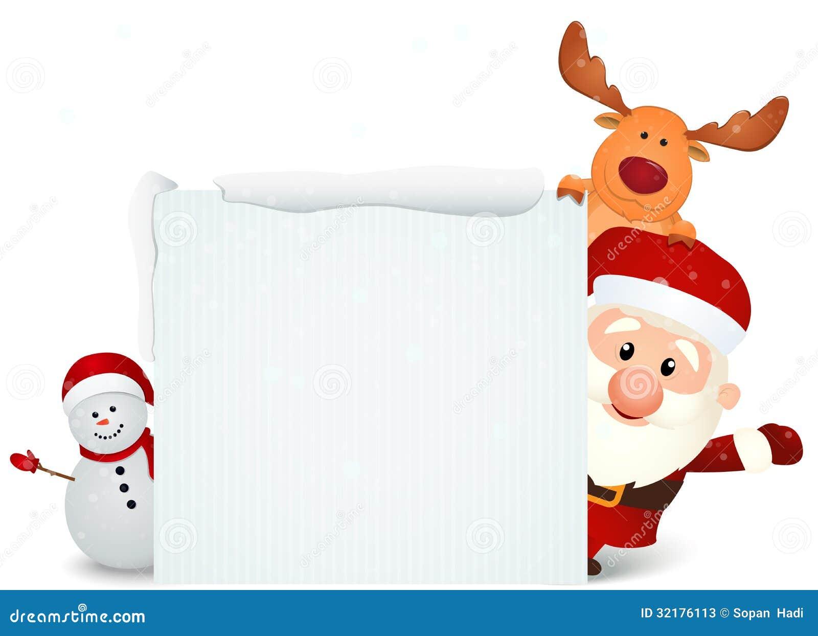 Santa Claus Con El Reno Y El Mu 241 Eco De Nieve Con La