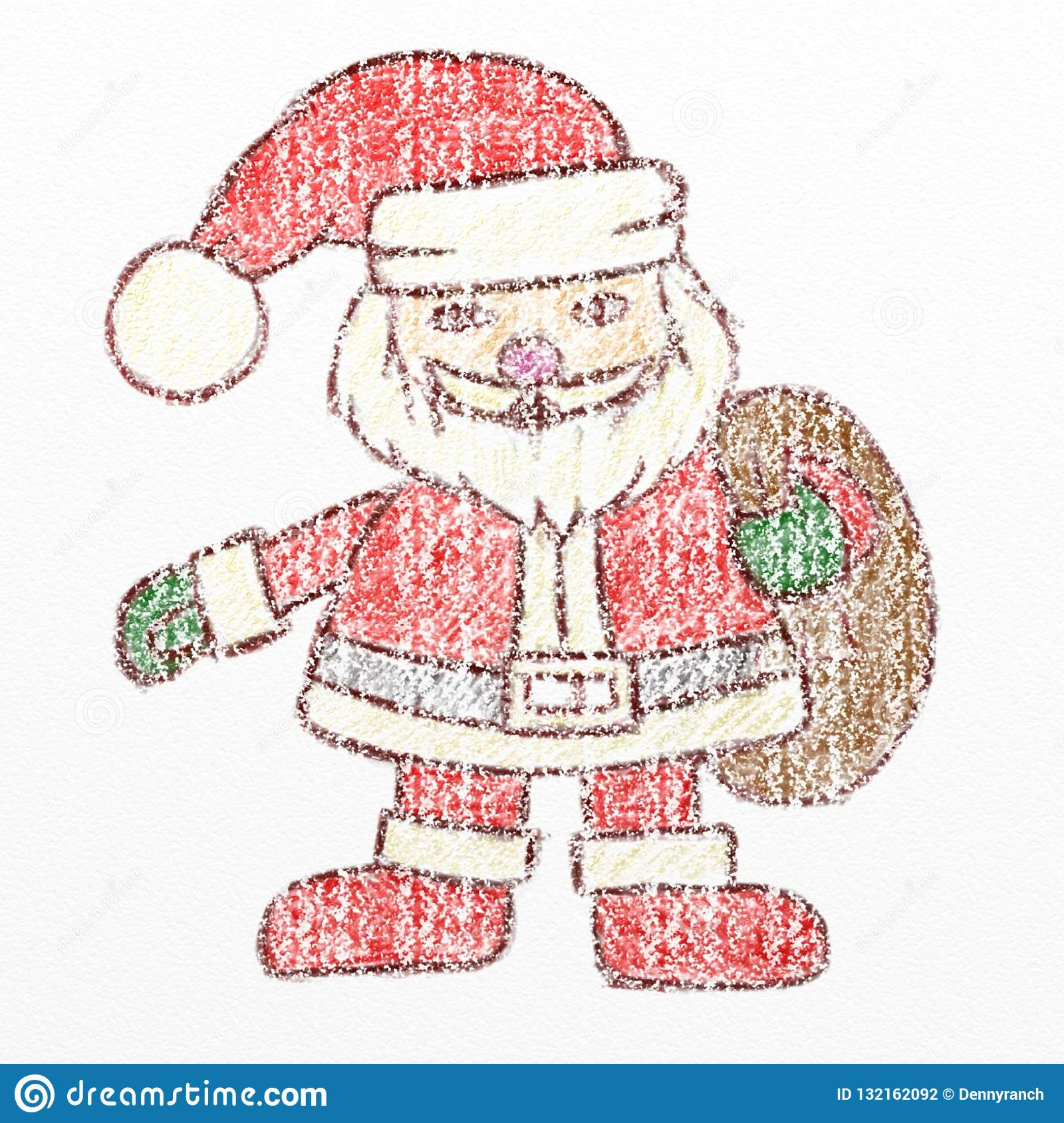 Download Santa Claus Drawing With Colour
