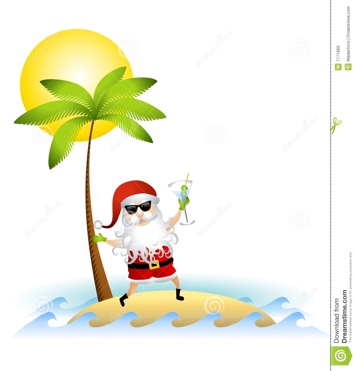 Santa Claus On Desert Island Royalty Free Stock Images - Image ...