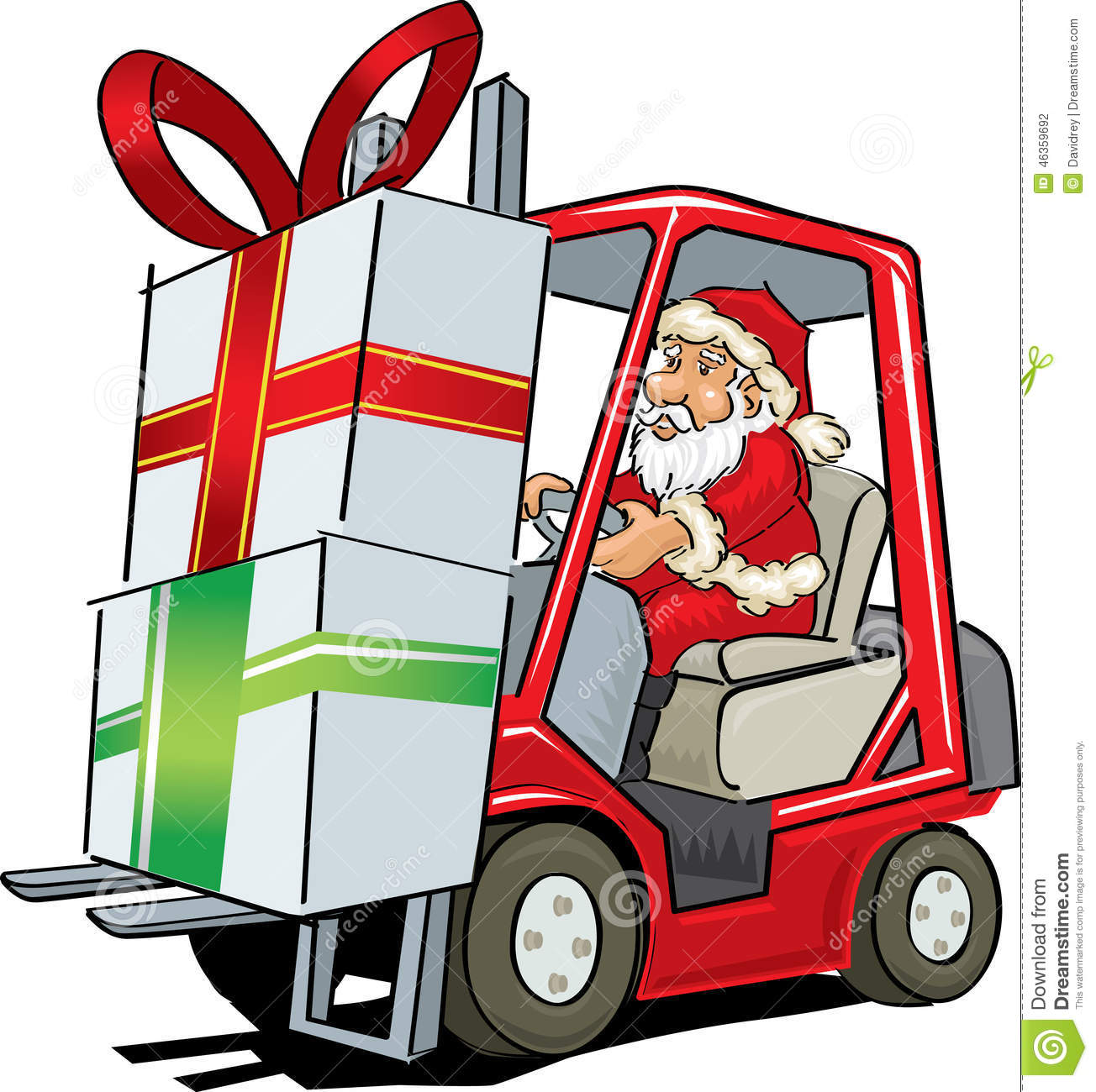 santa claus driving a forklift stock vector image 46359692 angry businessman clipart very angry man clipart