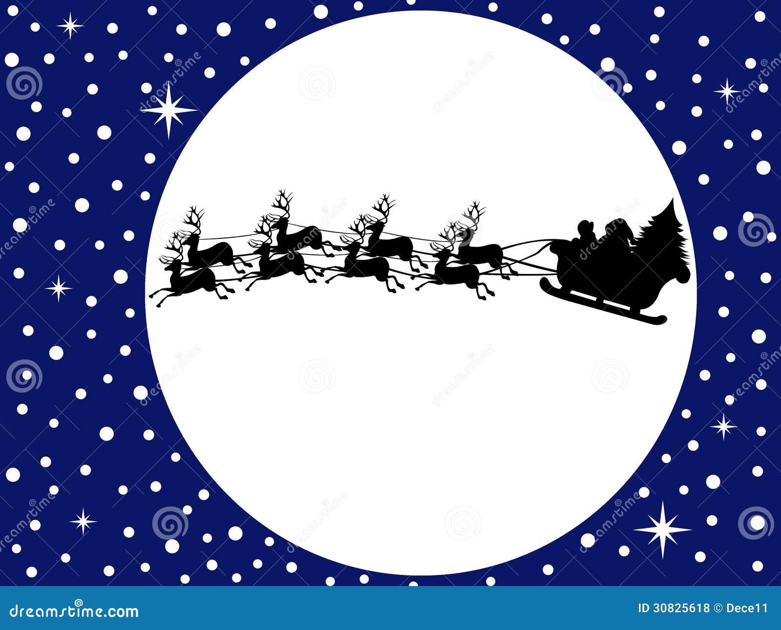 Santa Claus Driving In una slitta