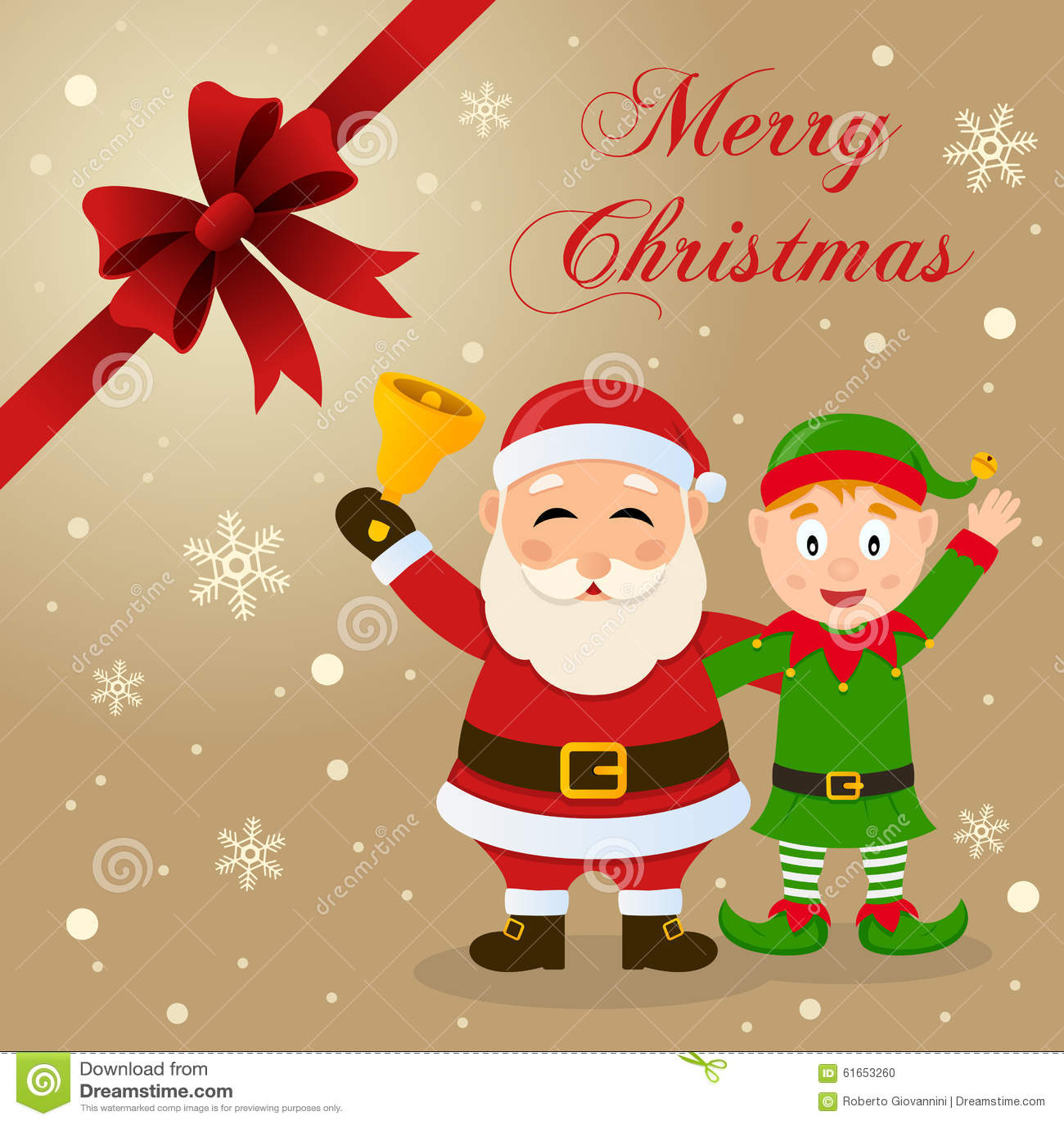 santa claus elf christmas card - Elf Christmas Card