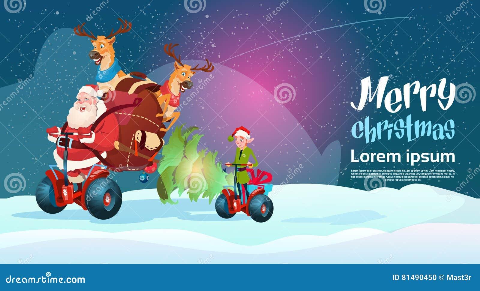 Santa Claus Elf Deer Ride Electric-Roller-Weihnachtsfeiertags-guten ...