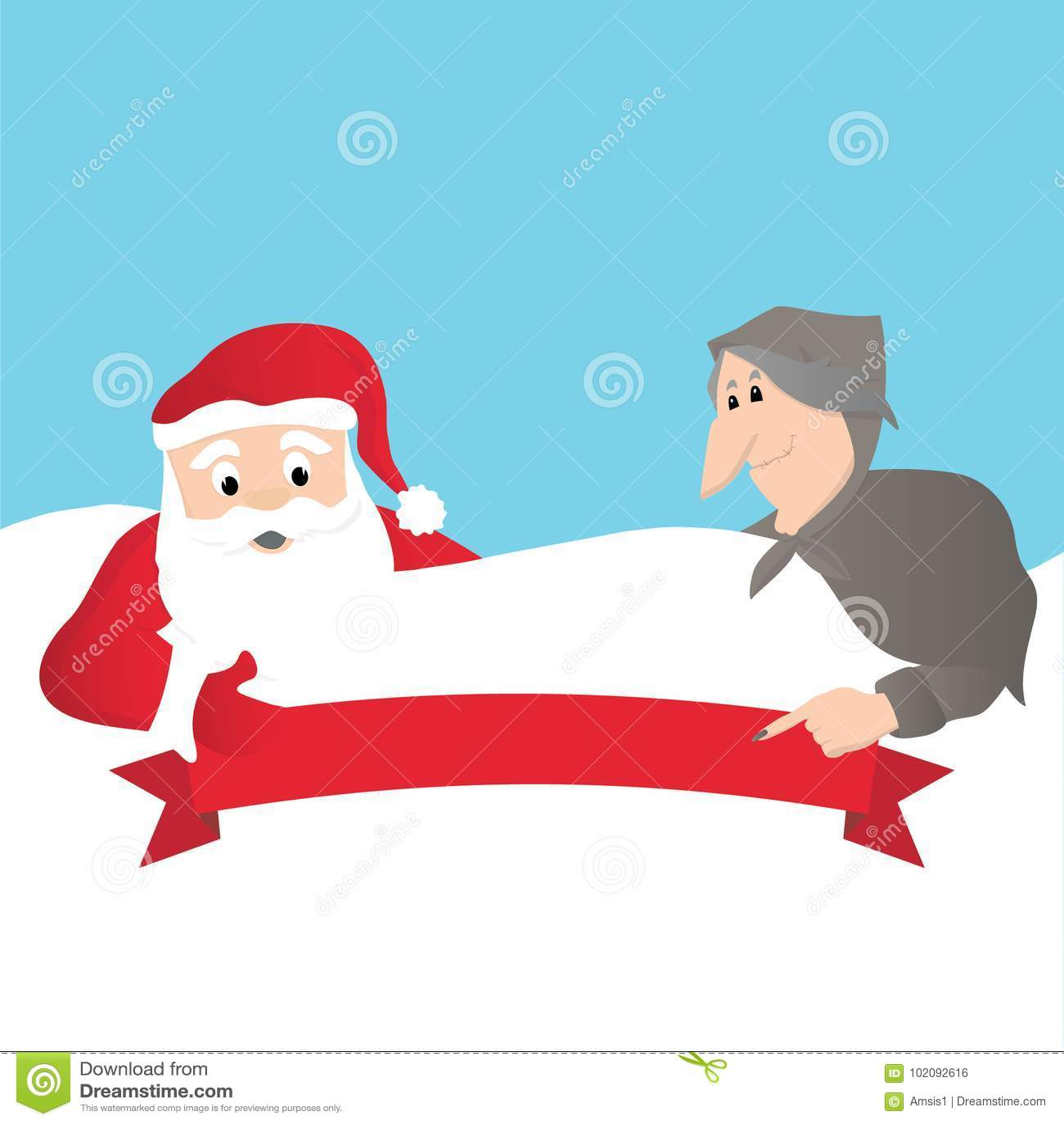 Santa Claus en Italiaanse Befana
