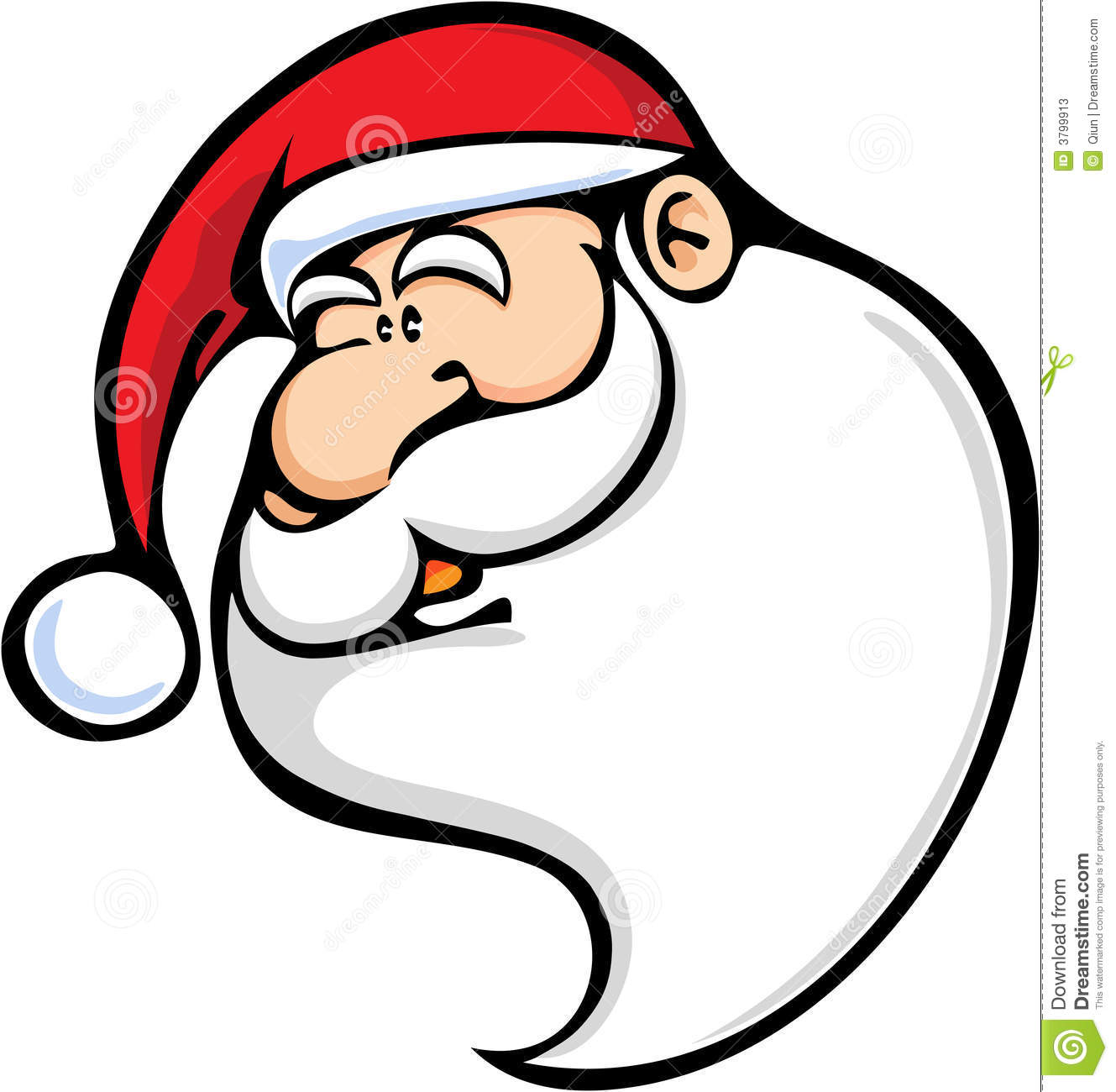 Santa Claus Face Stock Illustration Illustration Of Illustration
