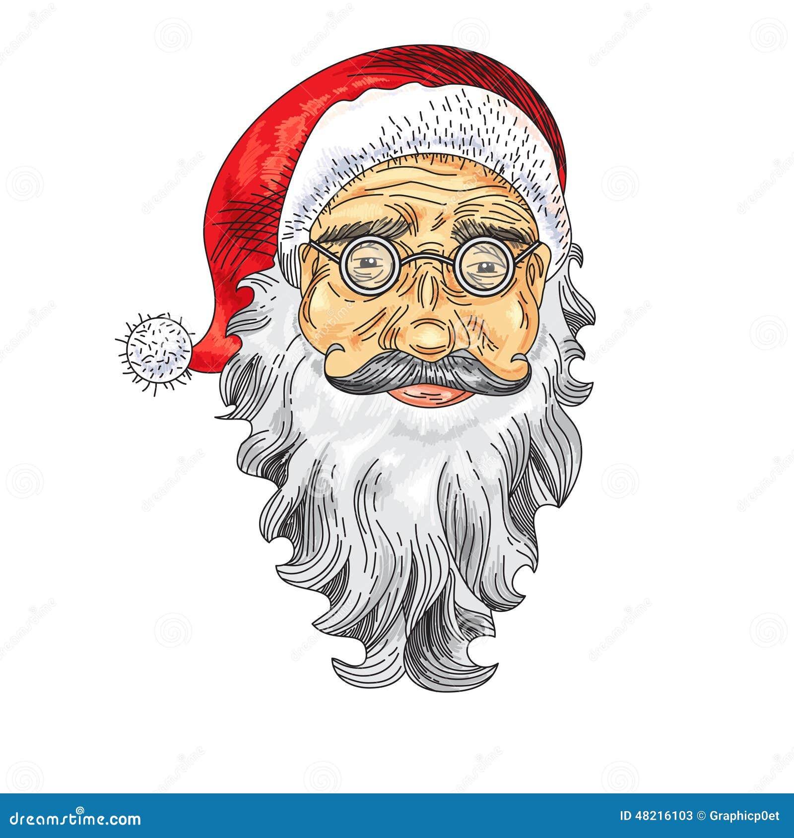 Santa Claus Face. Color Icon Stock Vector - Illustration of cartoon ...