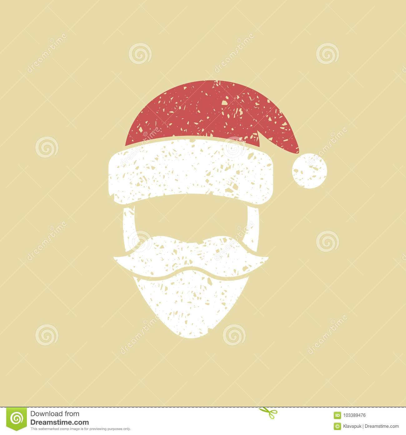 Santa Claus Face Icon Stock Vector Illustration Of Human 103389476