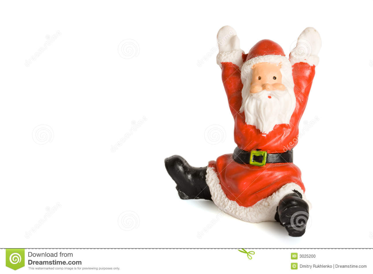 Download Santa Claus Figurine Isolated Stock Photo - Image of puppet, toys: 3025200