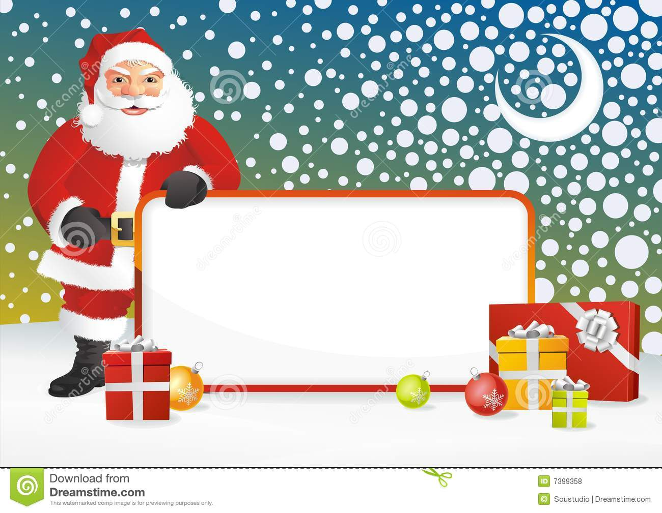 Santa Claus Frame Stock Vector Illustration Of Holiday 7399358