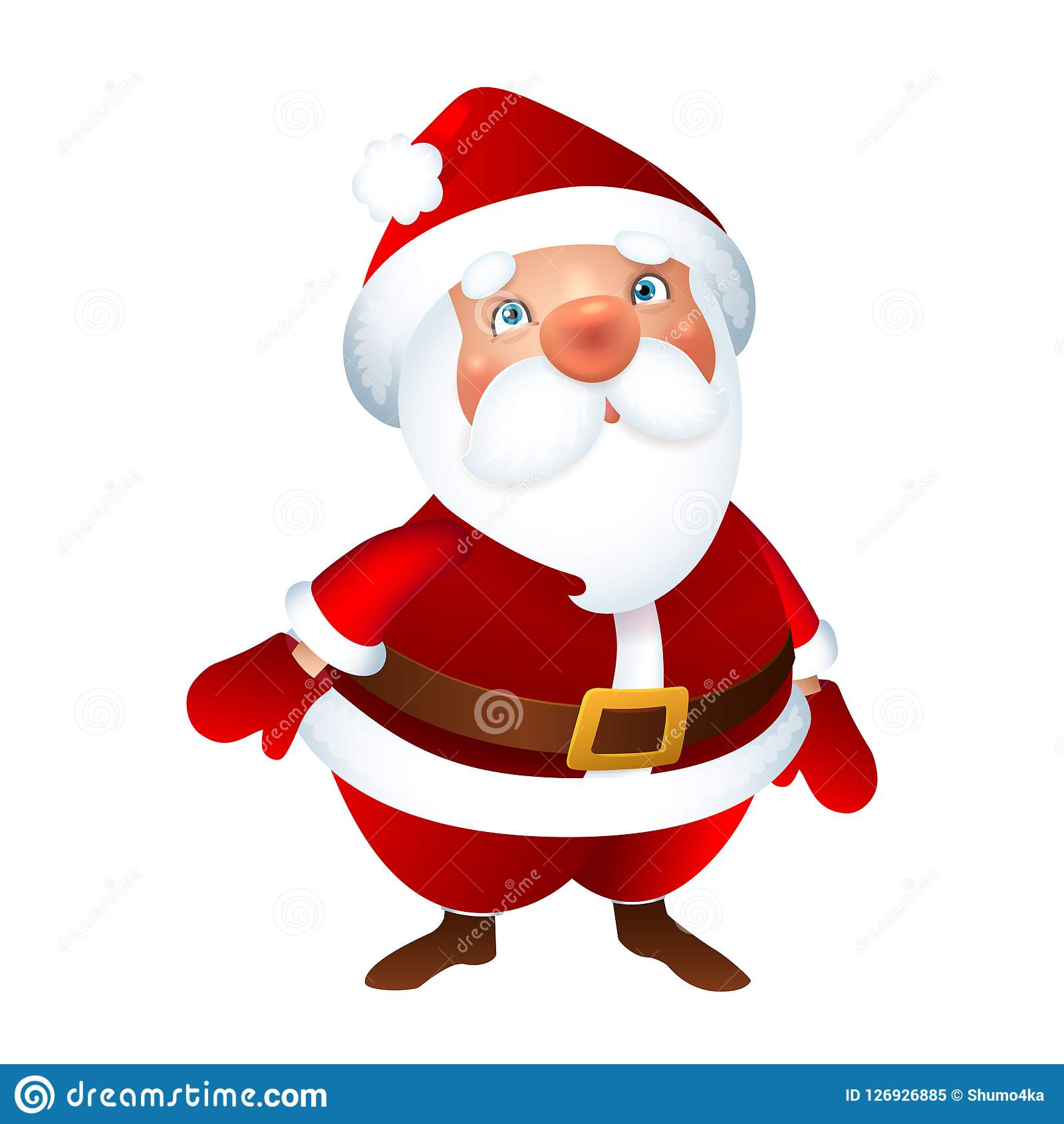 Santa Claus, Frohe Weihnachten Und Guten Rutsch Ins Neue Jahr-Gruß ...