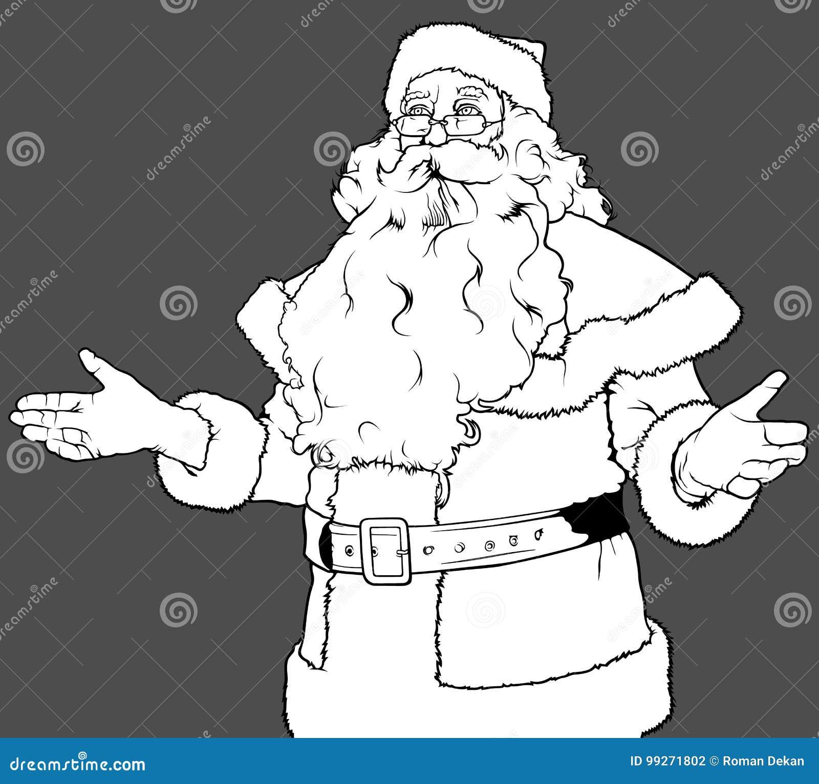 Santa Claus Gesturing Welcome