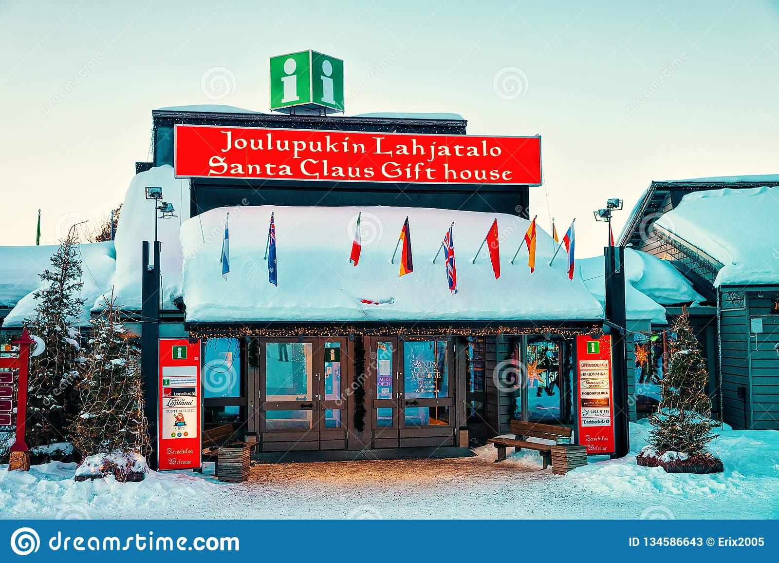 Santa Claus Gift House Lapland Scandinavia